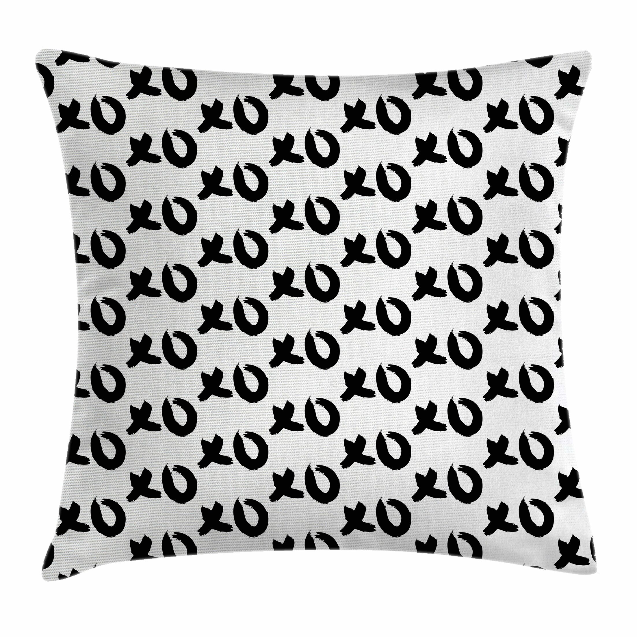 Xo Decor Paintbrush Words Art Square Pillow Cover Size: 24