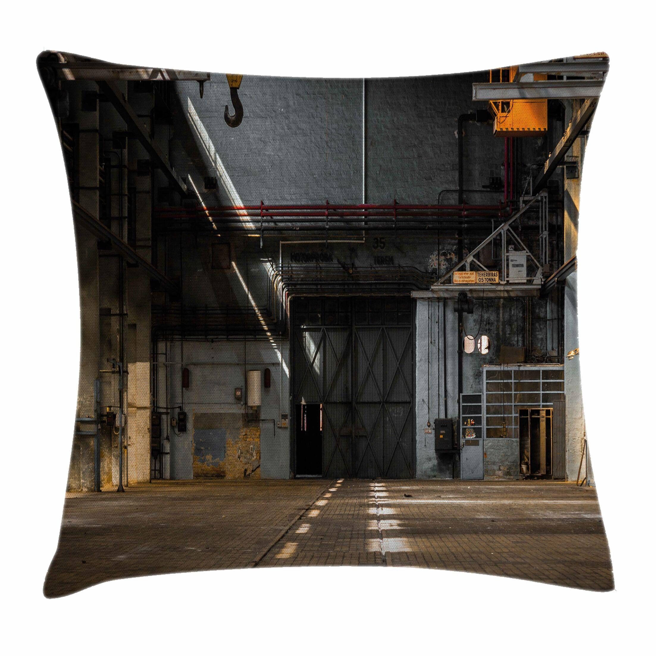 Dark Interior Square Pillow Cover Size: 16