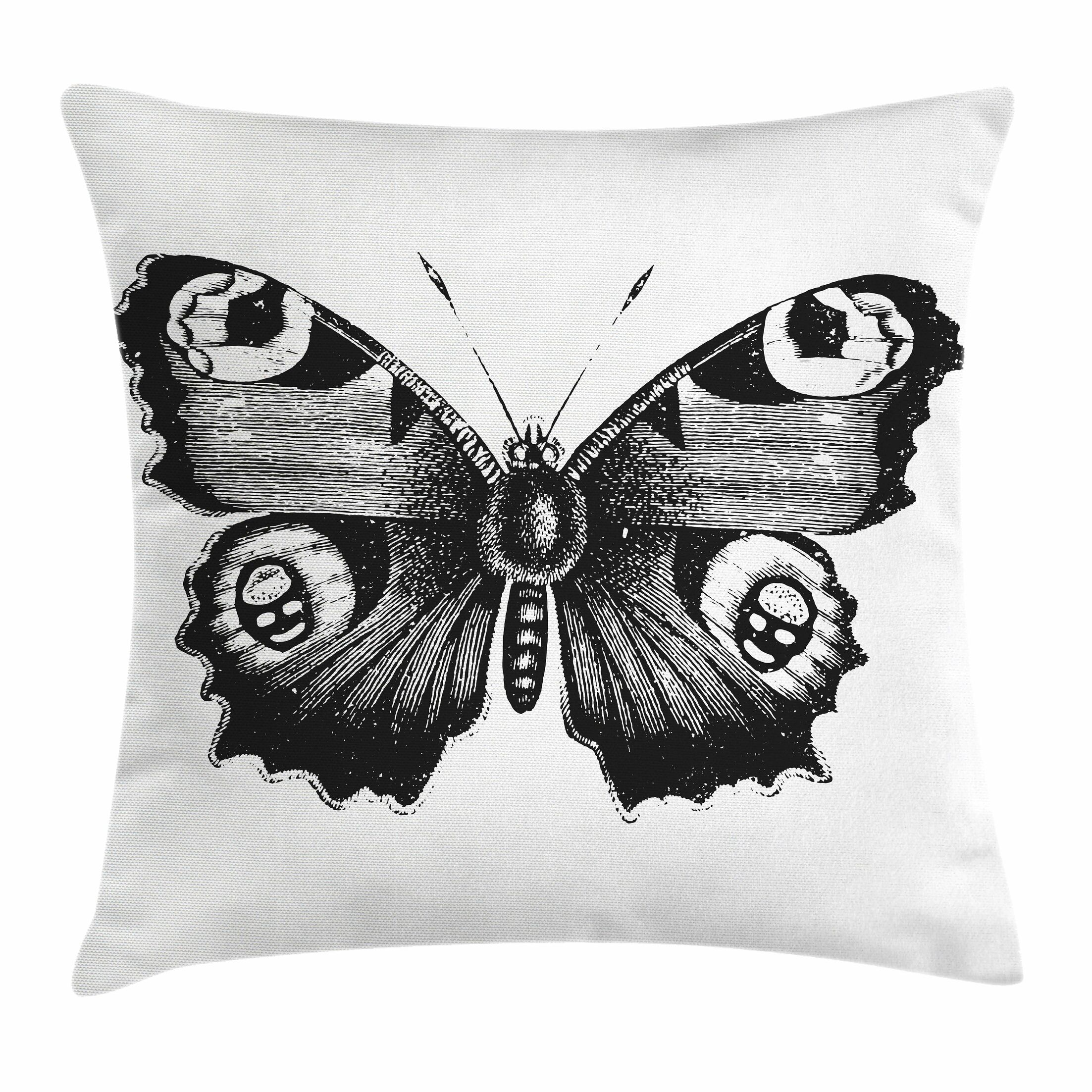 Butterfly Art Square Pillow Cover Size: 18