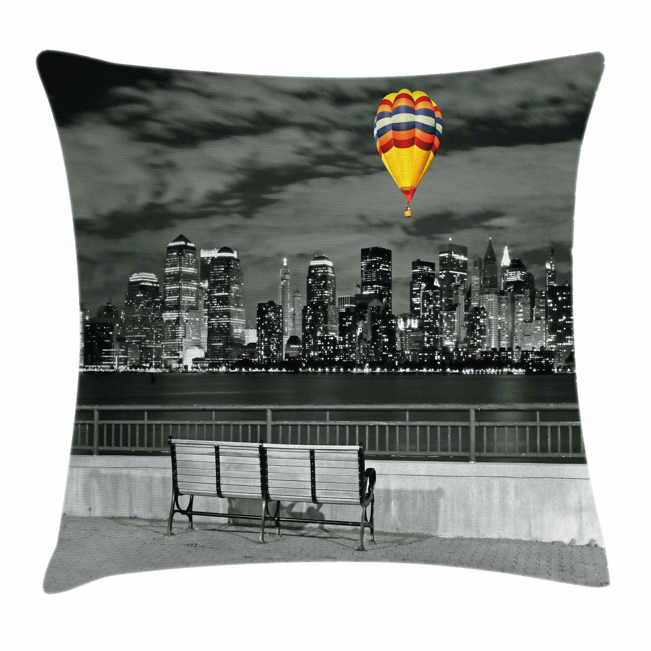 NYC Skyline Square Pillow Cover Size: 20