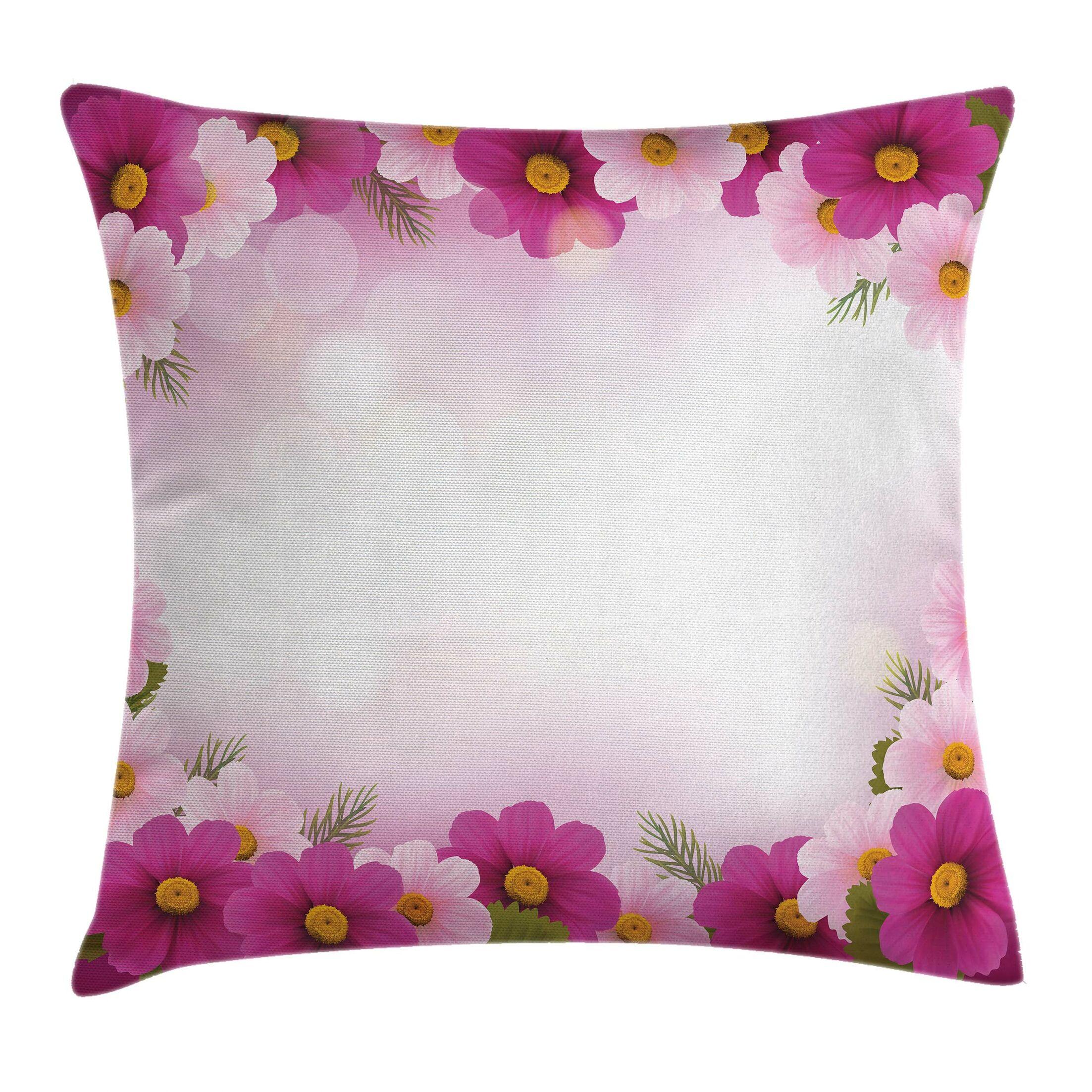 Romantic Daisies Framework Pillow Cover Size: 20