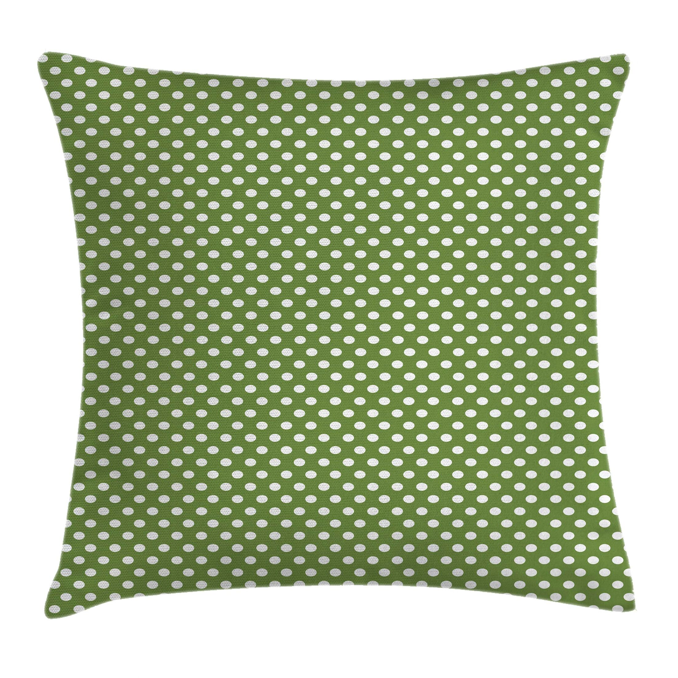 Simple Polka Dots Square Pillow Cover Size: 18