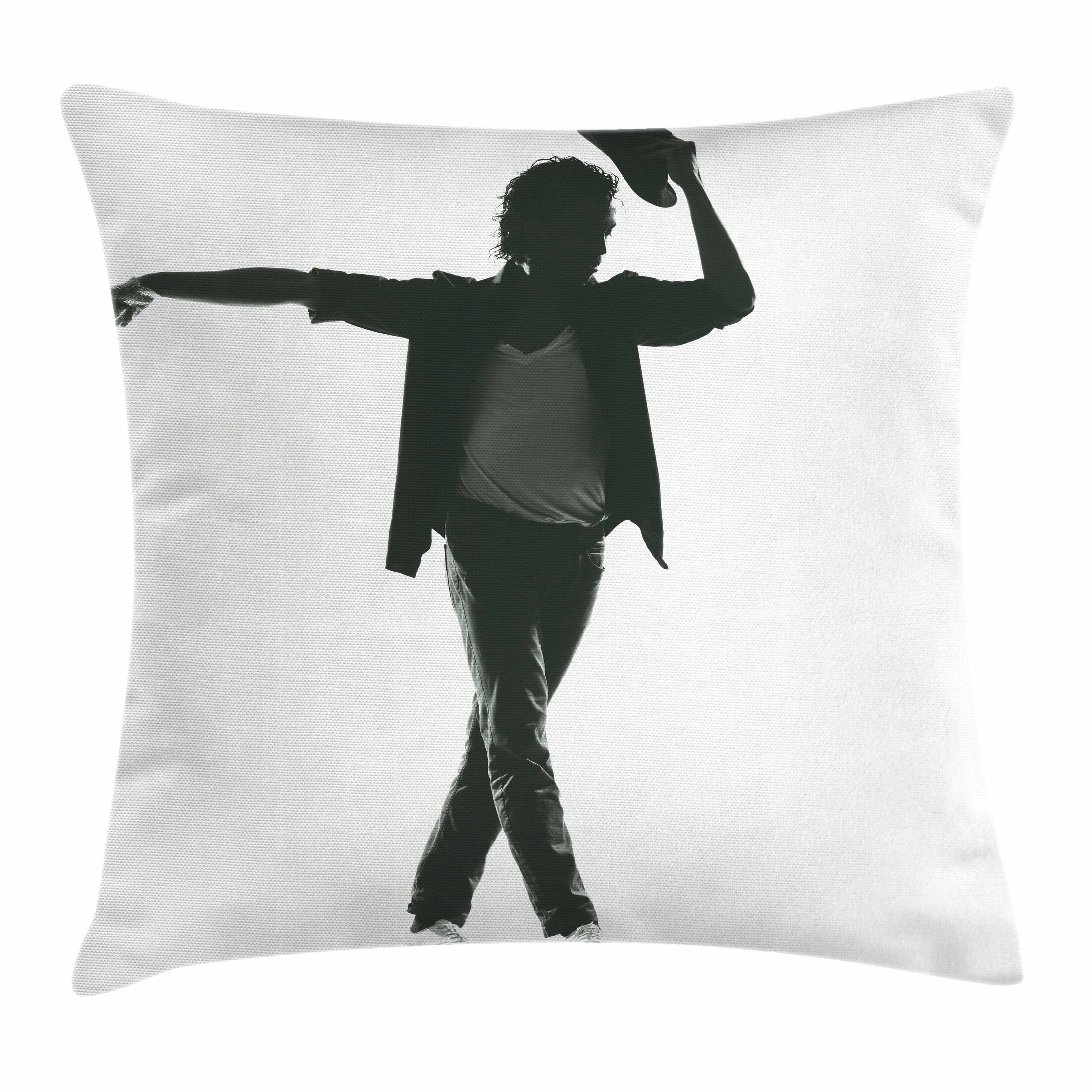Michael Jackson Performer Man Square Pillow Cover Size: 16