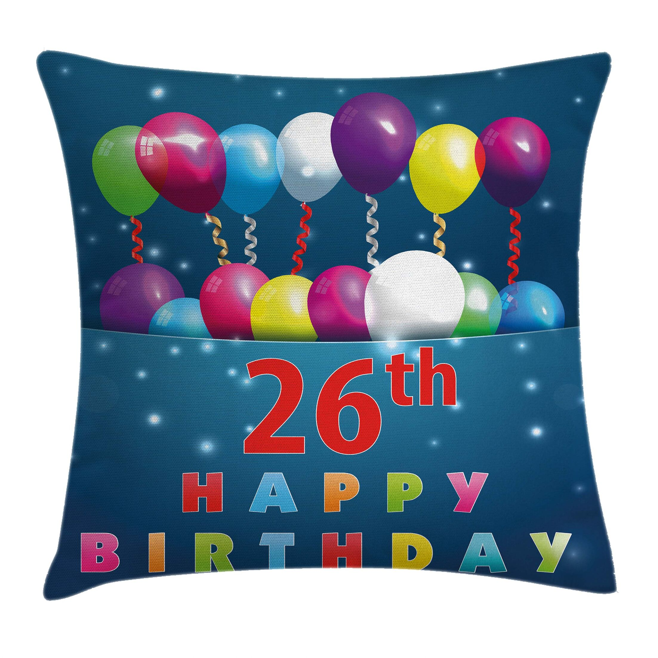 Birthday Cute Event Square Pillow Cover Size: 18
