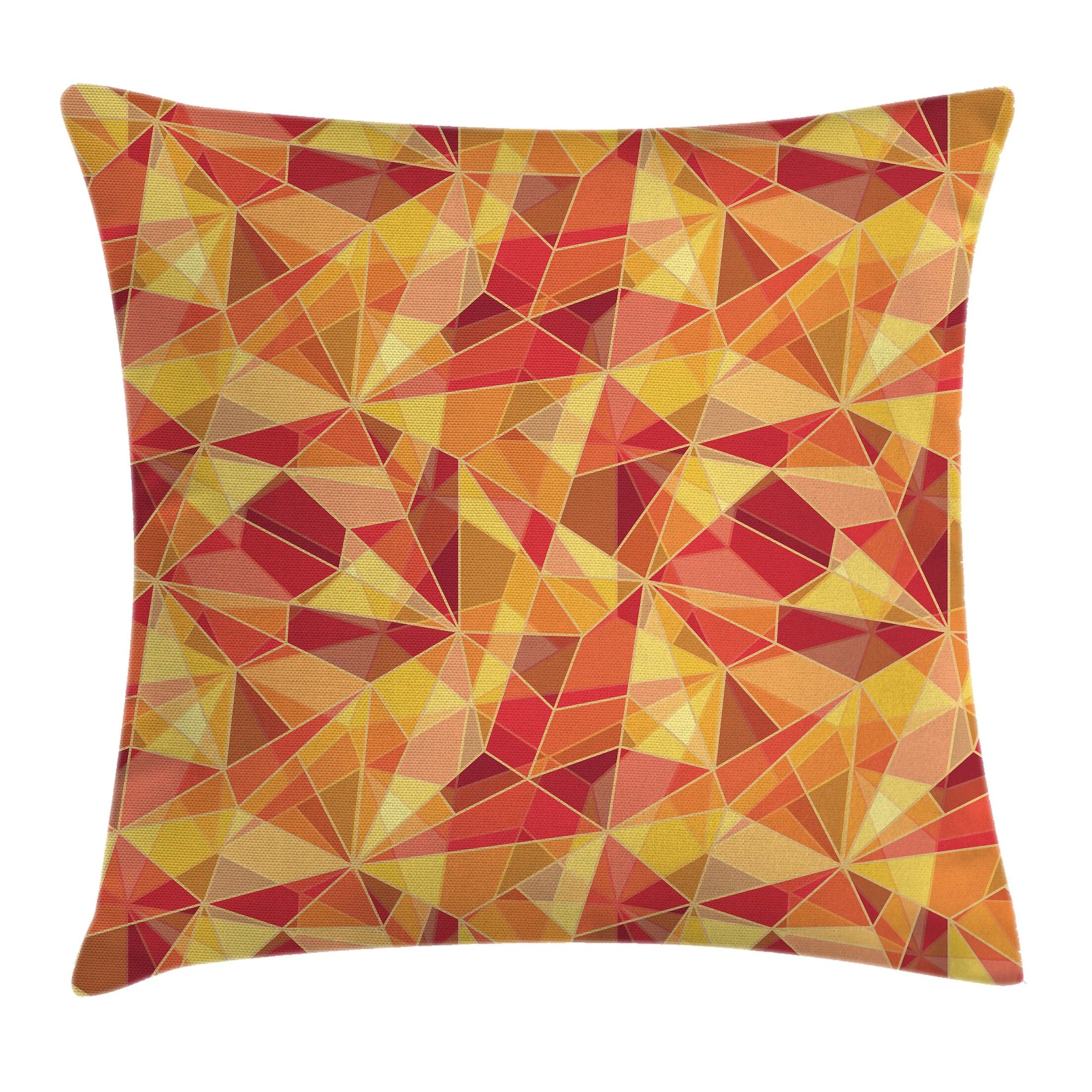 Geometric Mosaic Digital Style Pillow Cover Size: 16