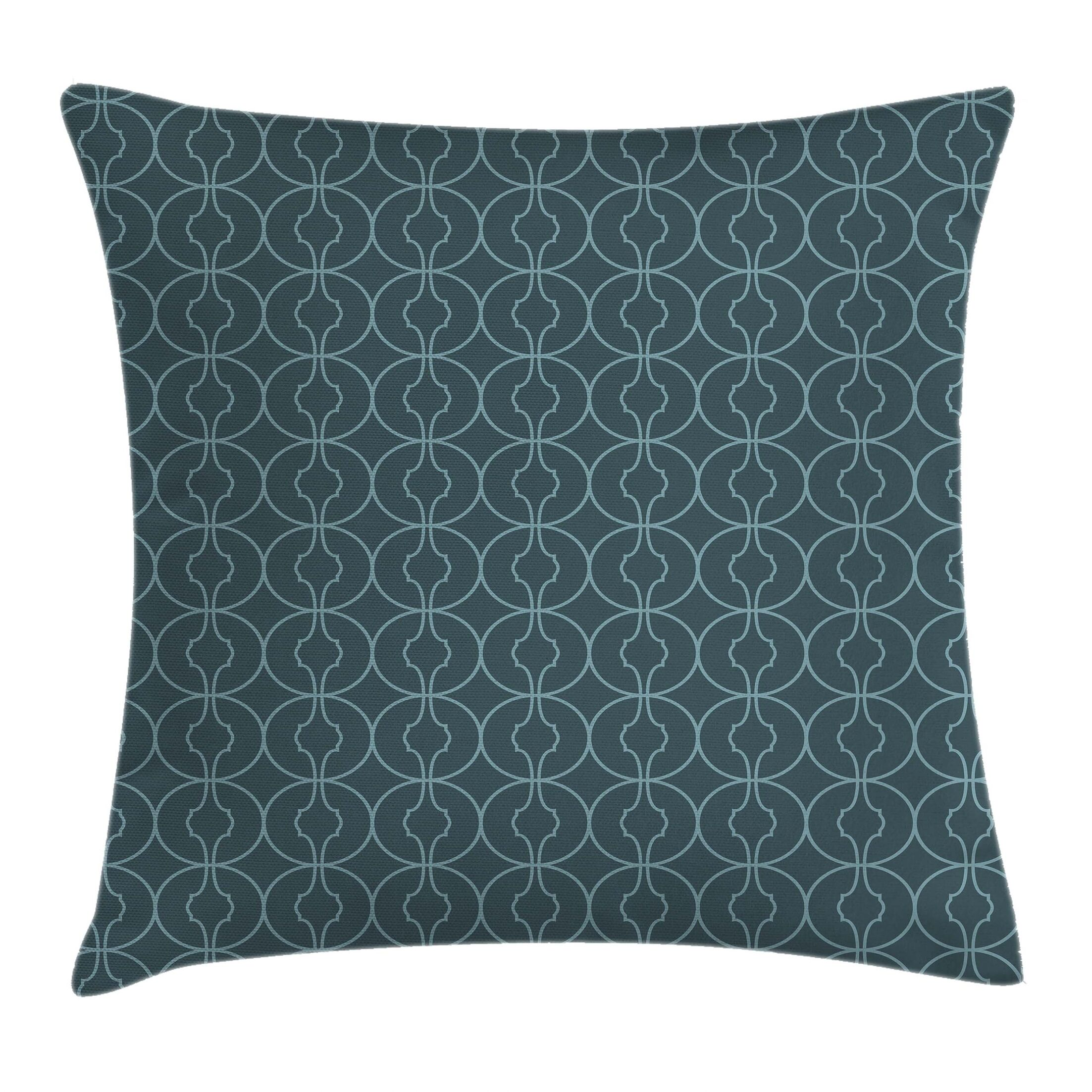 Moroccan Orient Circles Corners Square Pillow Cover Size: 16