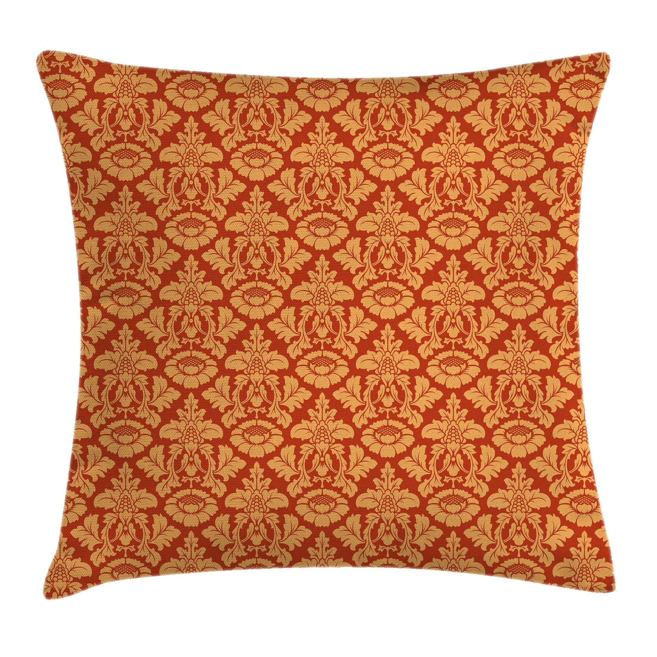Antique Royal Victorian Damask Square Pillow Cover Size: 18