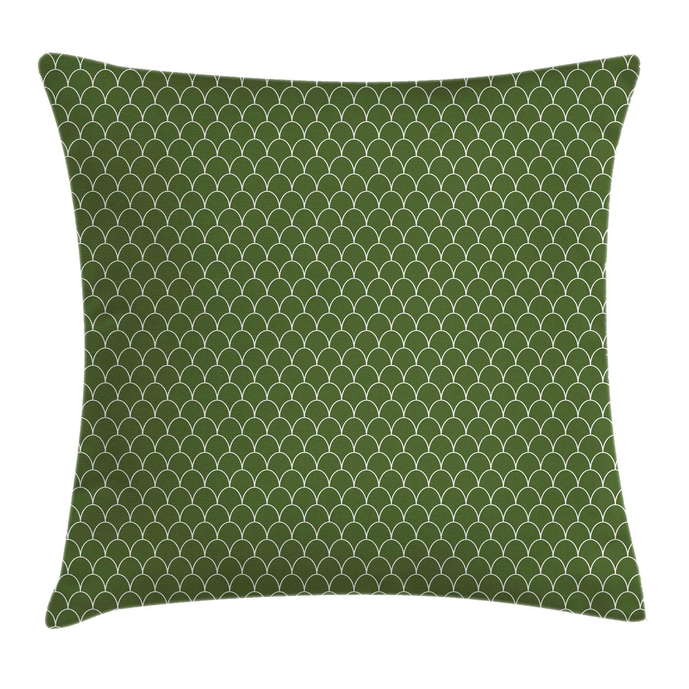Geometric Wave Like Square Pillow Cover Size: 16
