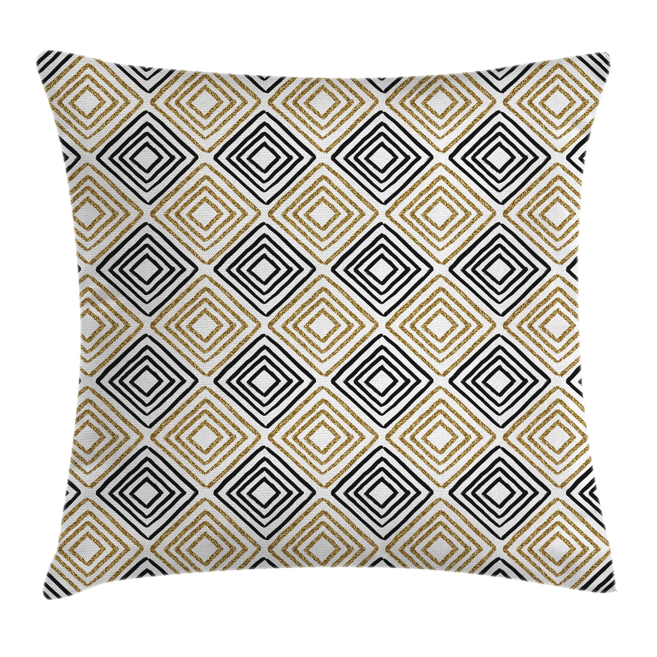 Bohemian Shaped Lines Pillow Cover Size: 20