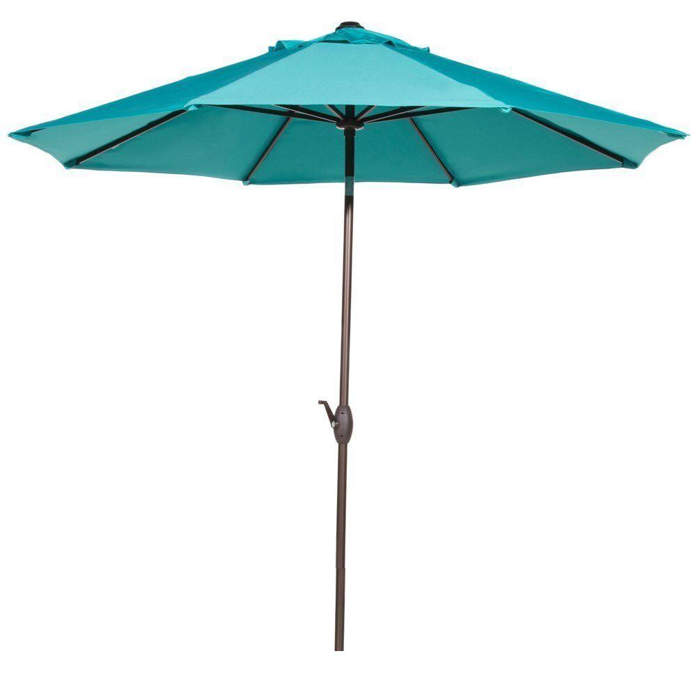 9' Market Umbrella Fabric: Turquoise