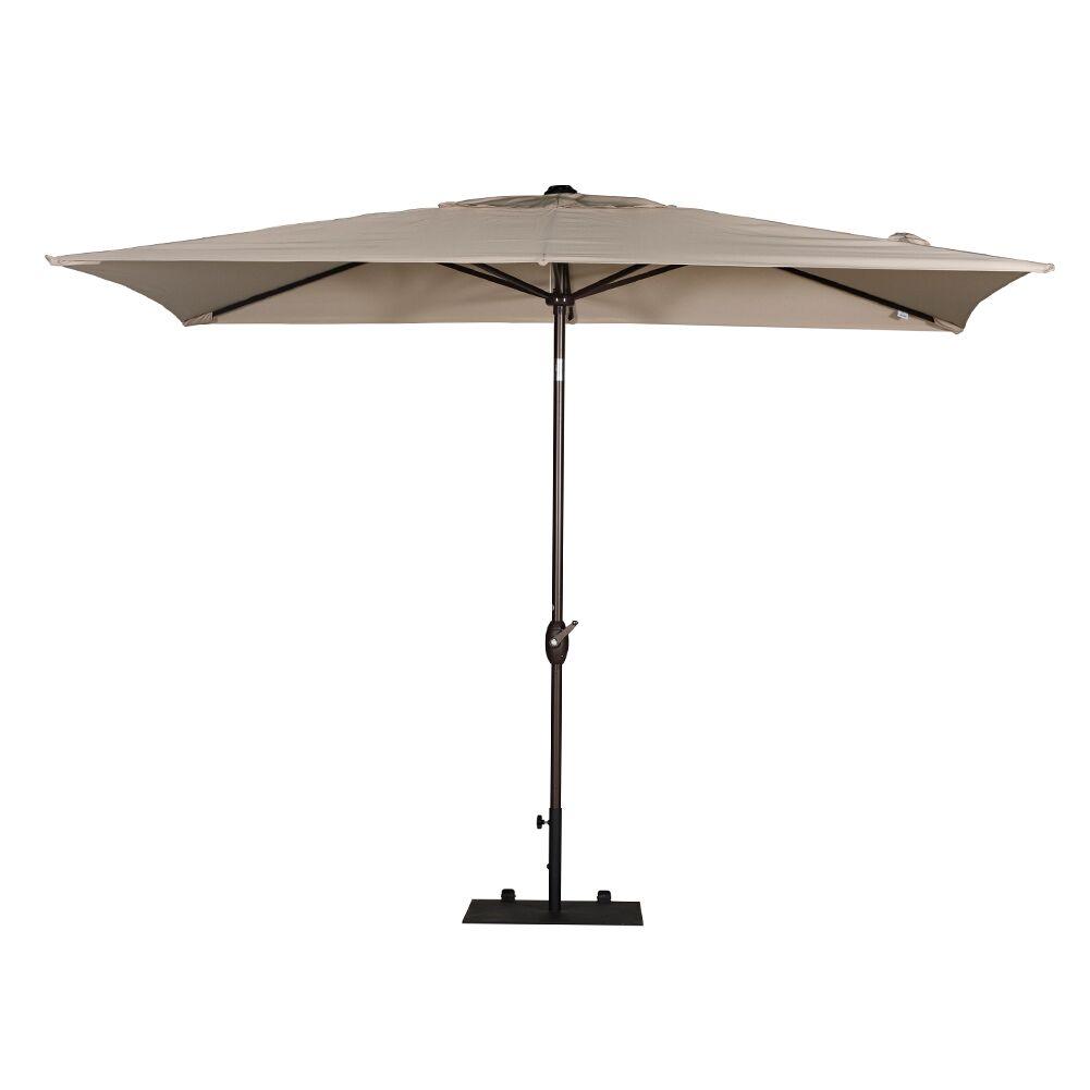 10' X 6.5' Rectangular Market Umbrella Fabric: Beige