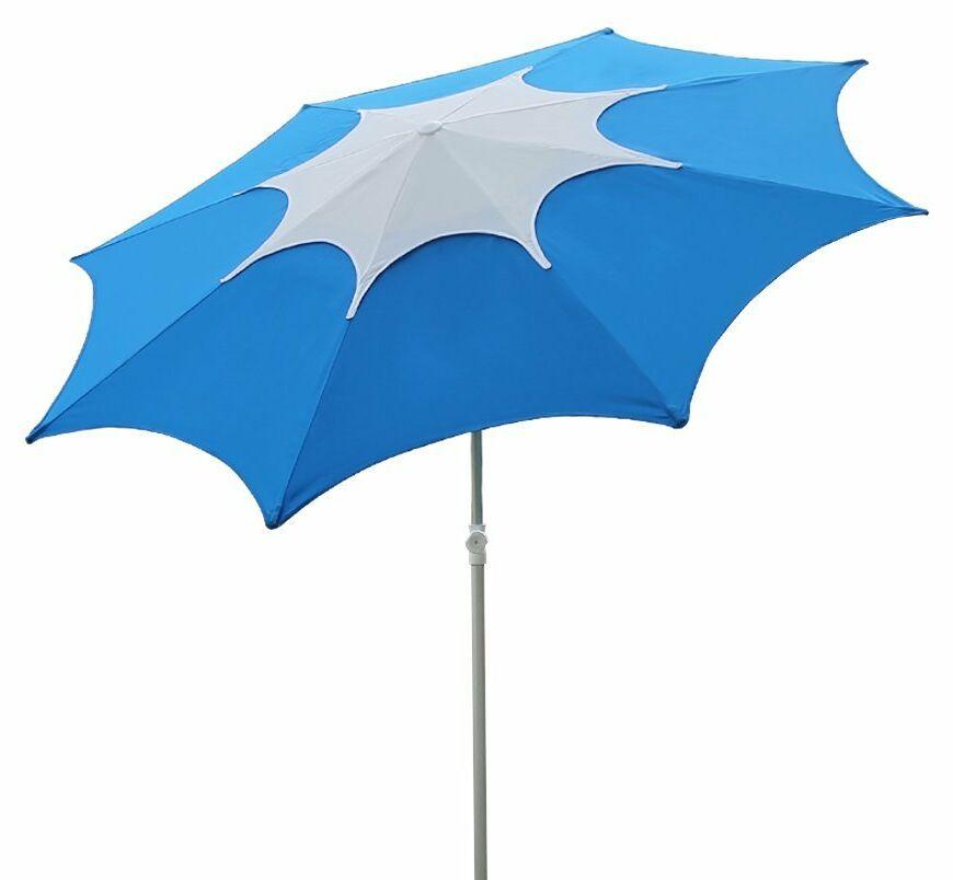 7.5' Beach Umbrella Fabric: Blue