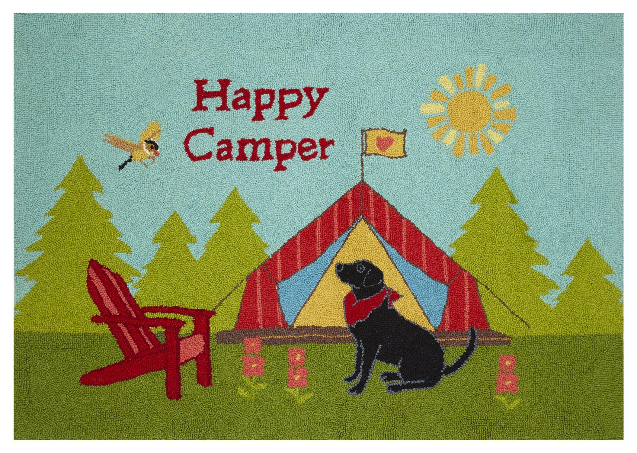 Happy Camper Green/Blue Area Rug