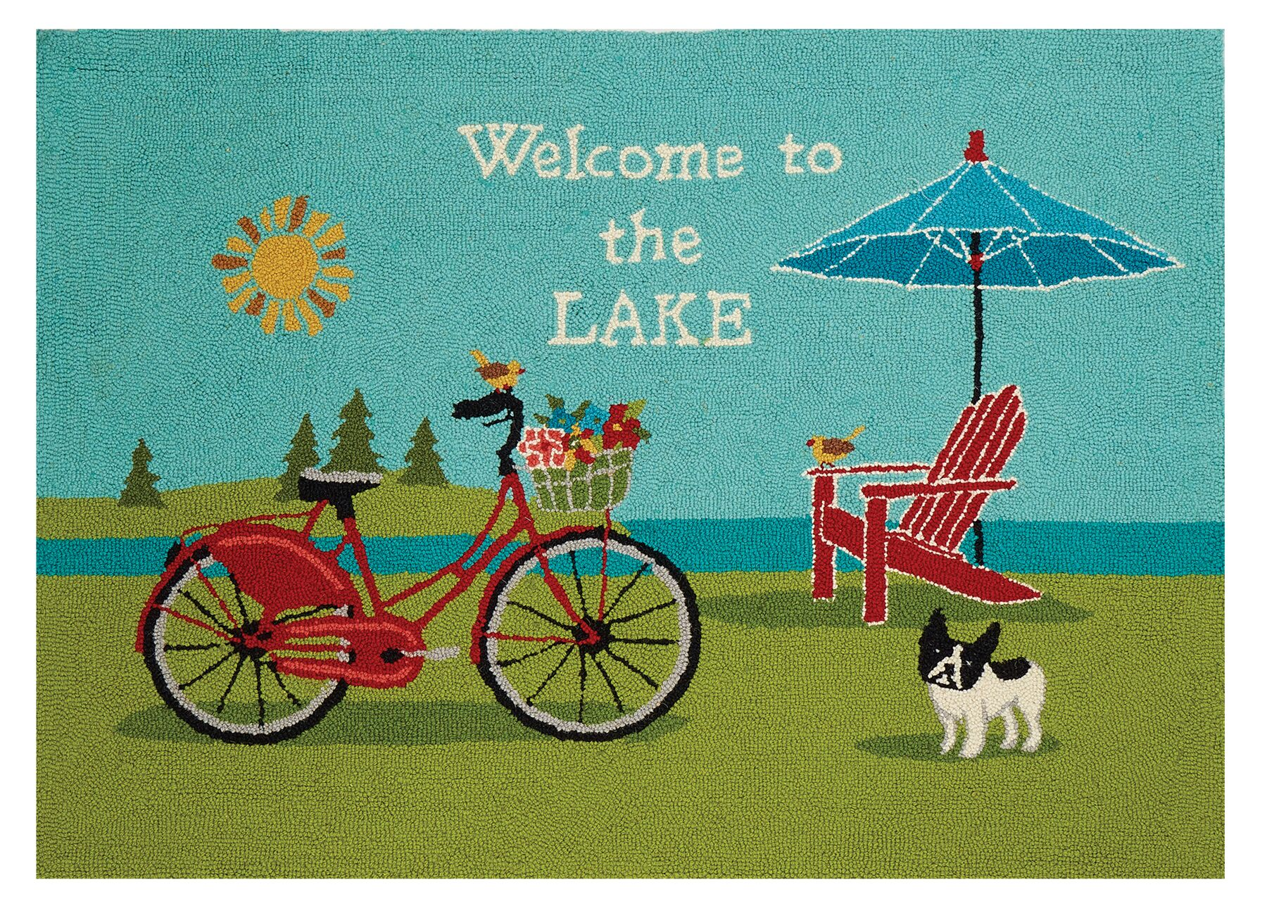 Welcome to the Lake Green/Blue Area Rug