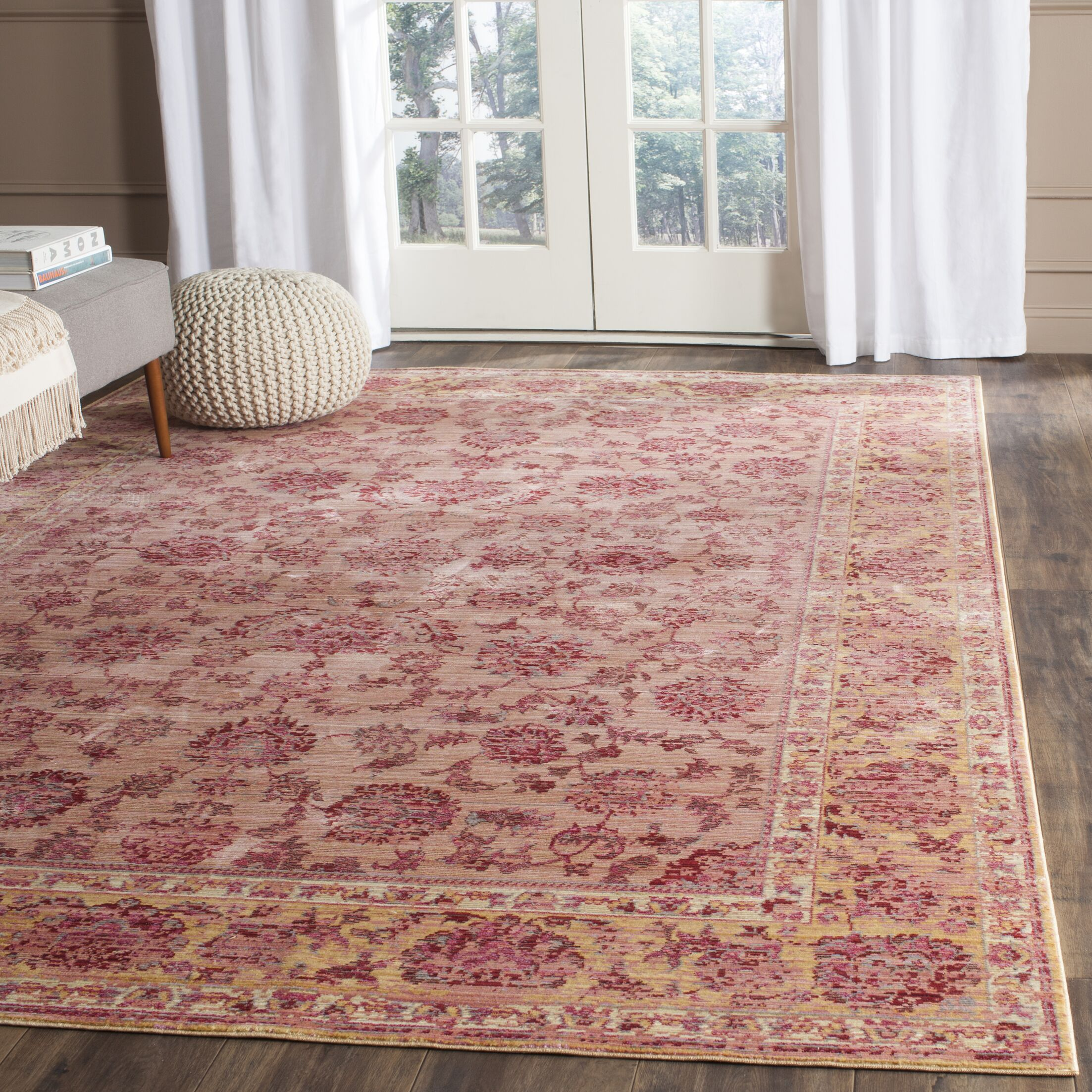 Valencia Pink Area Rug Rug Size: Rectangle 9' x 12'