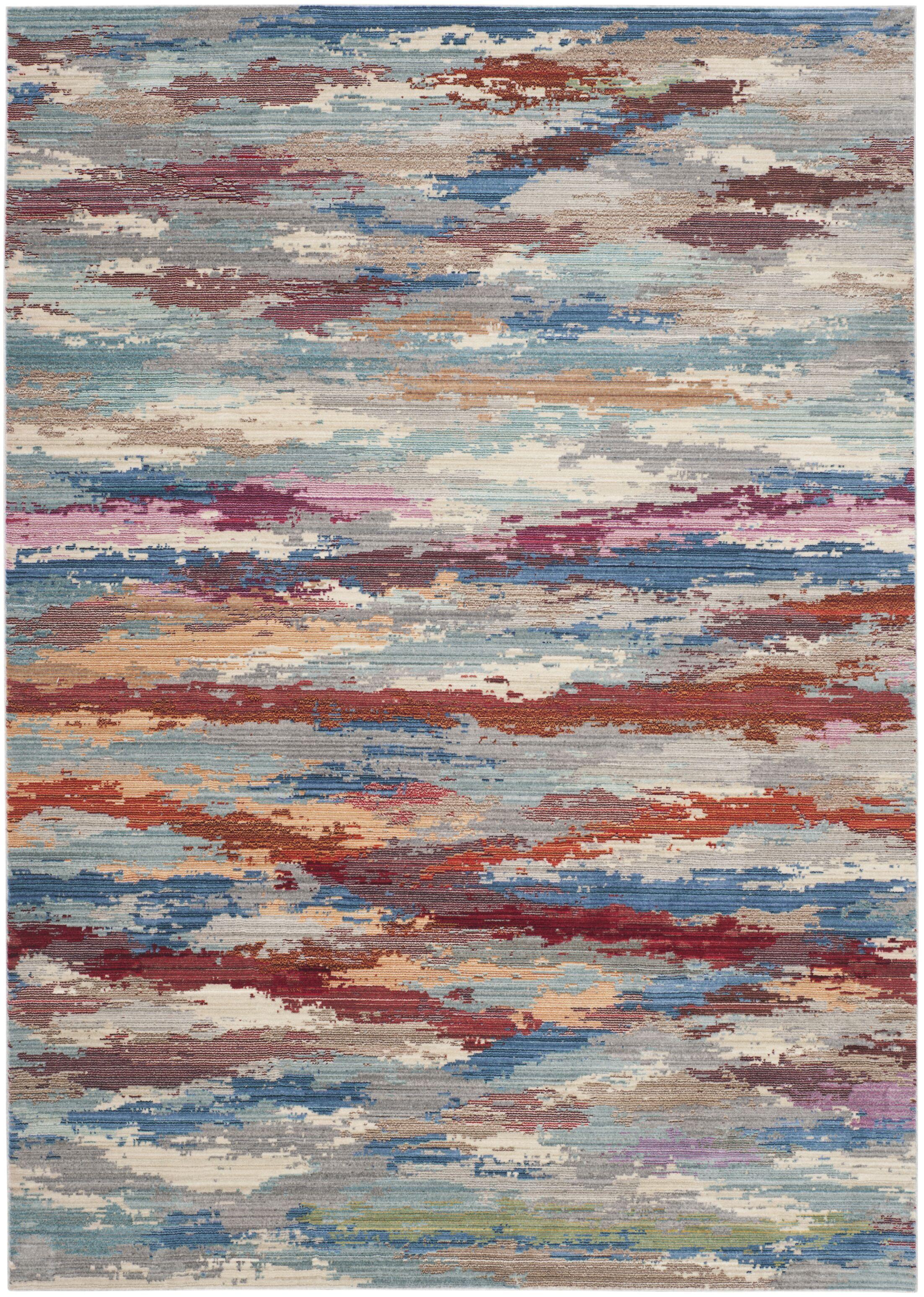 Doline Blue Area Rug Rug Size: Rectangle 8' x 10'