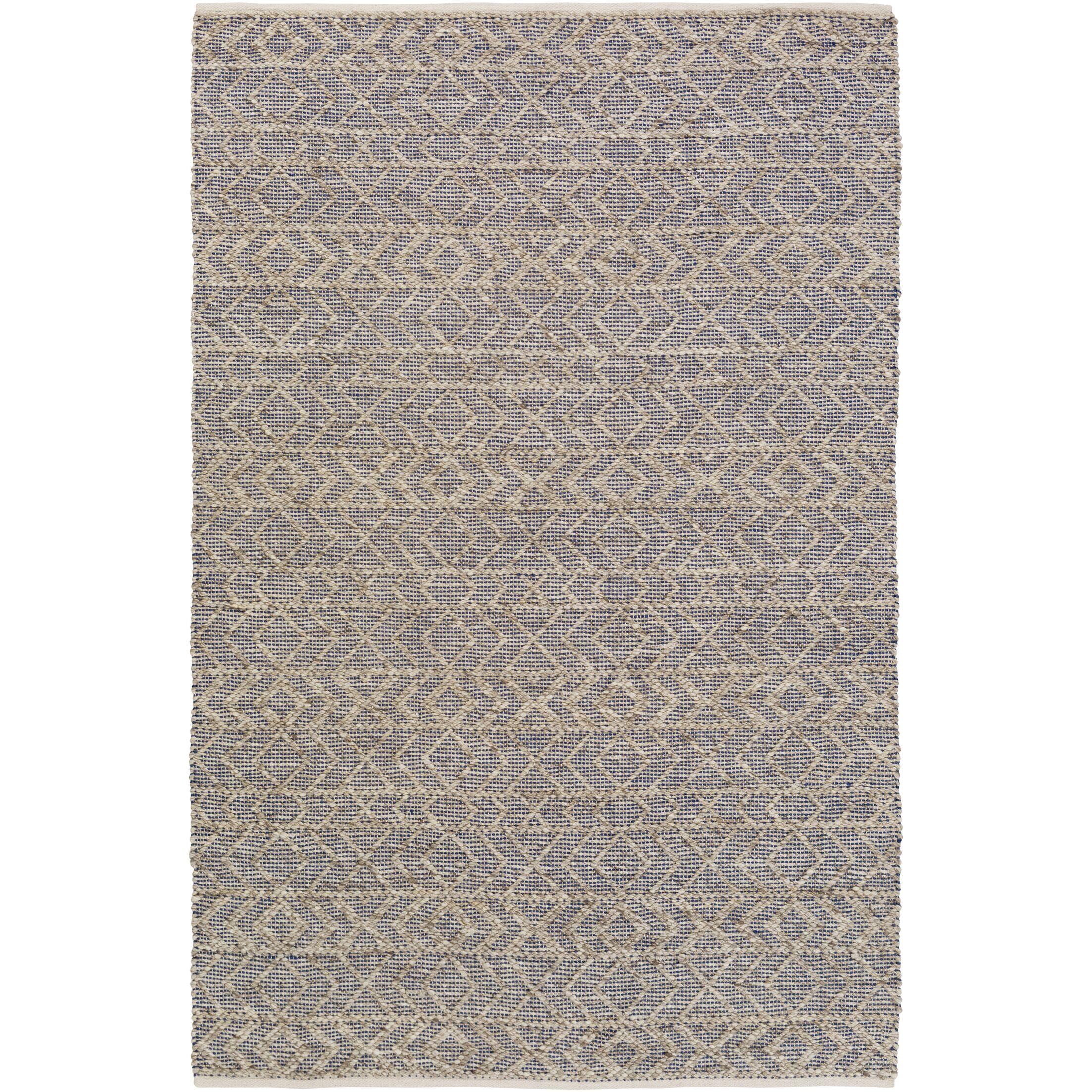 Between Cobalt/Light Gray Area Rug Rug Size: Rectangle 8' x 10'