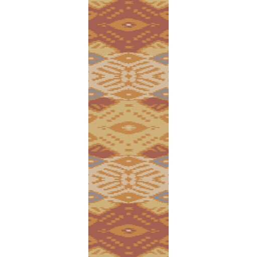 Evelyn Hand-Woven Rust/Gold Area Rug Rug Size: Runner 2'6