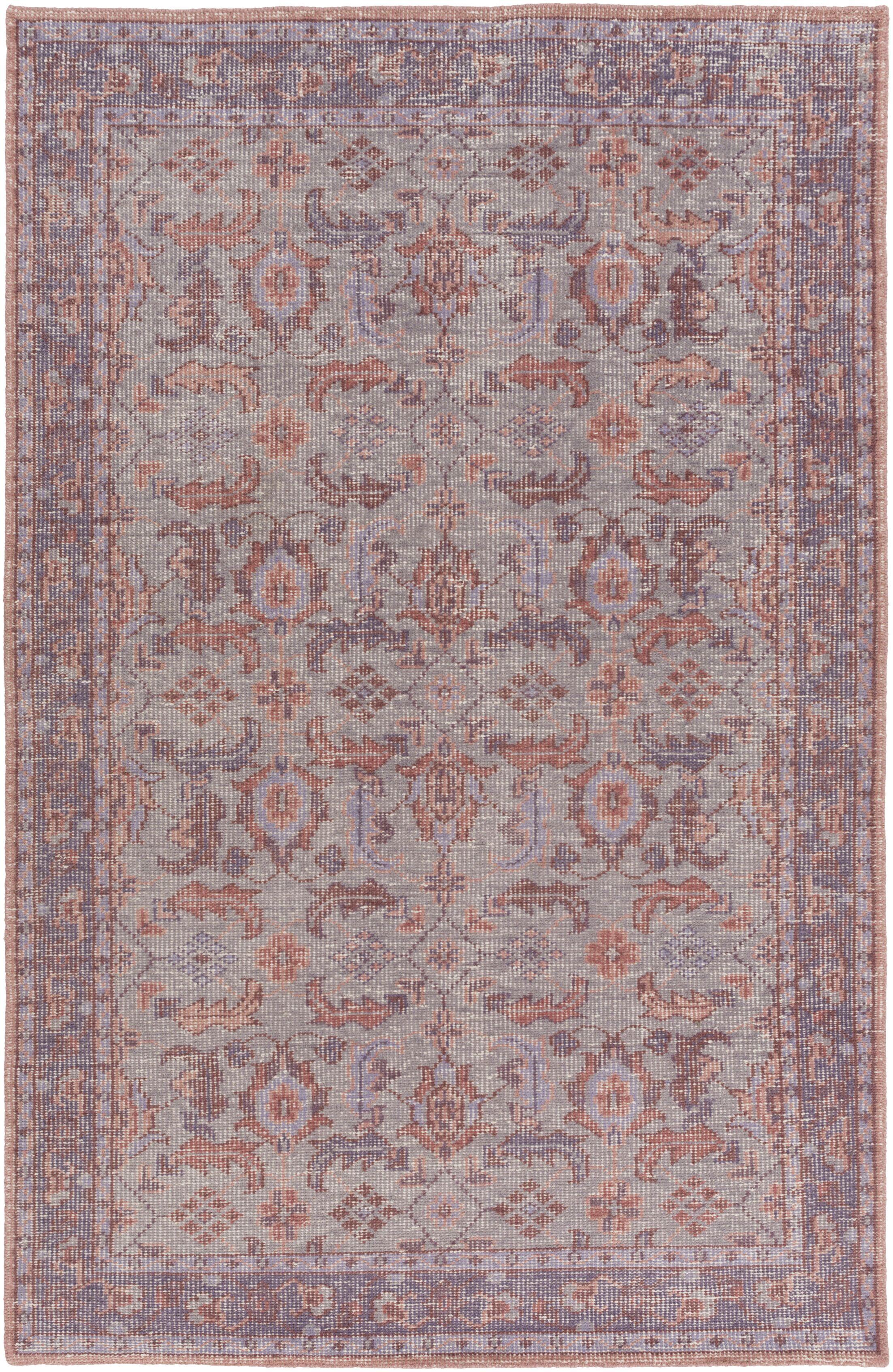 Heerhugowaard Hand-Hooked Purple Area Rug Rug Size: Rectangle 2' x 3'