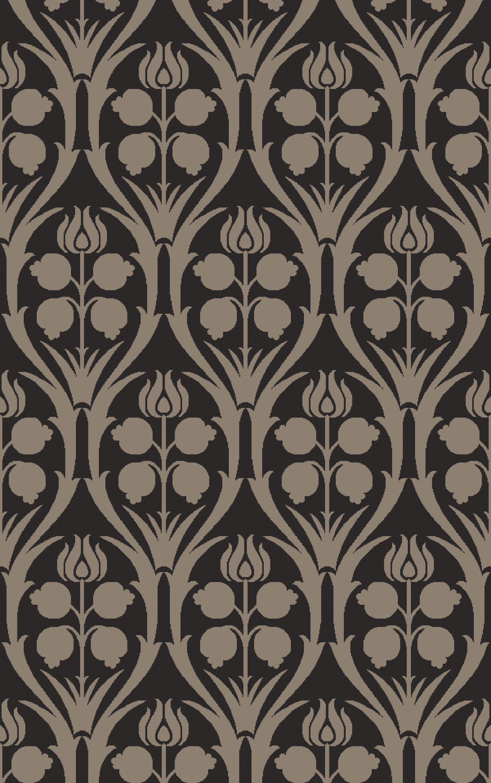 Baconton Hand-Hooked Black/Gray Area Rug Rug Size: Rectangle 6' x 9'