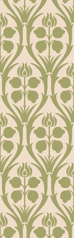 Baconton Green/Beige Area Rug Rug Size: Rectangle 5' x 7'6