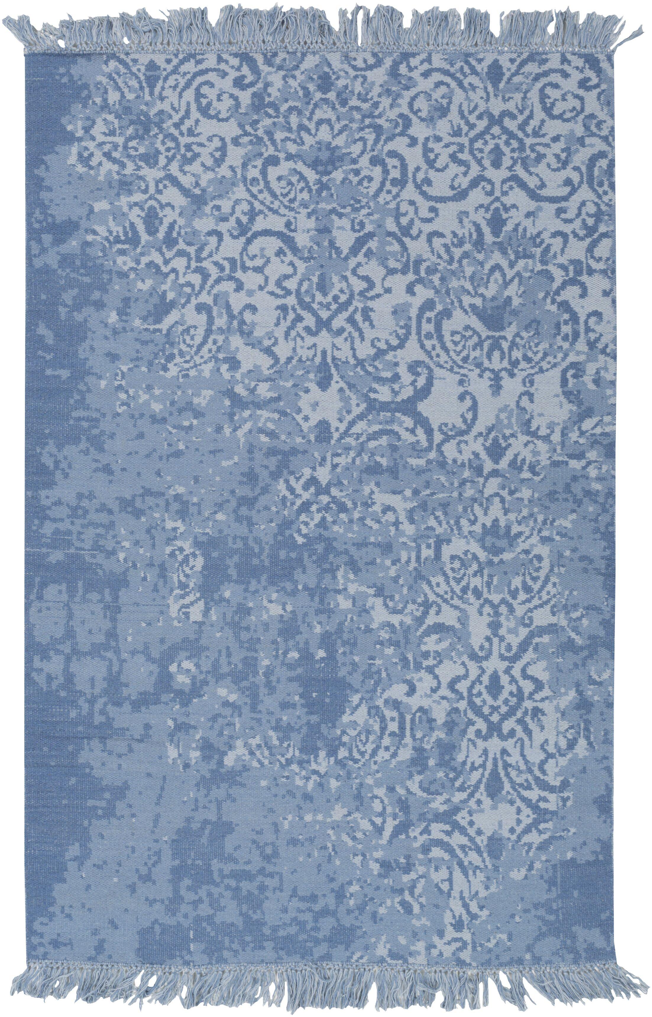 Cedartown Hand-Woven Blue Area Rug Rug Size: Rectangle 4' x 6'