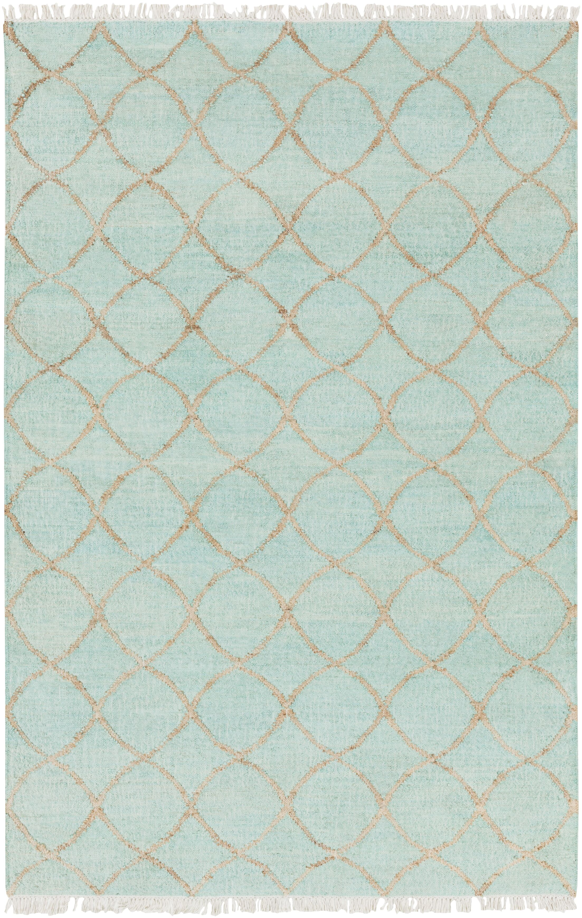 Ravenstein Hand-Woven Blue Area Rug Rug Size: Rectangle 5' x 7'6
