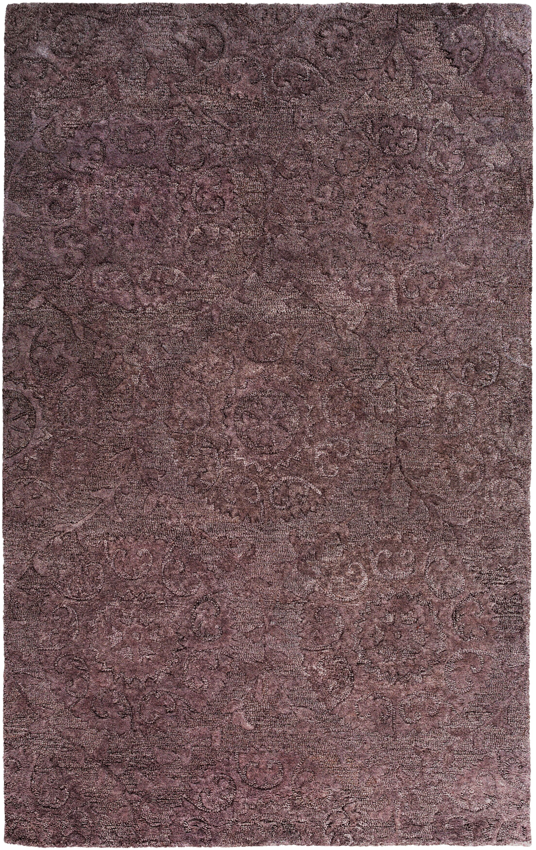 Oss Hand Tufted Synthetic/Wool Purple Area Rug Rug Size: Rectangle 8' x 10'