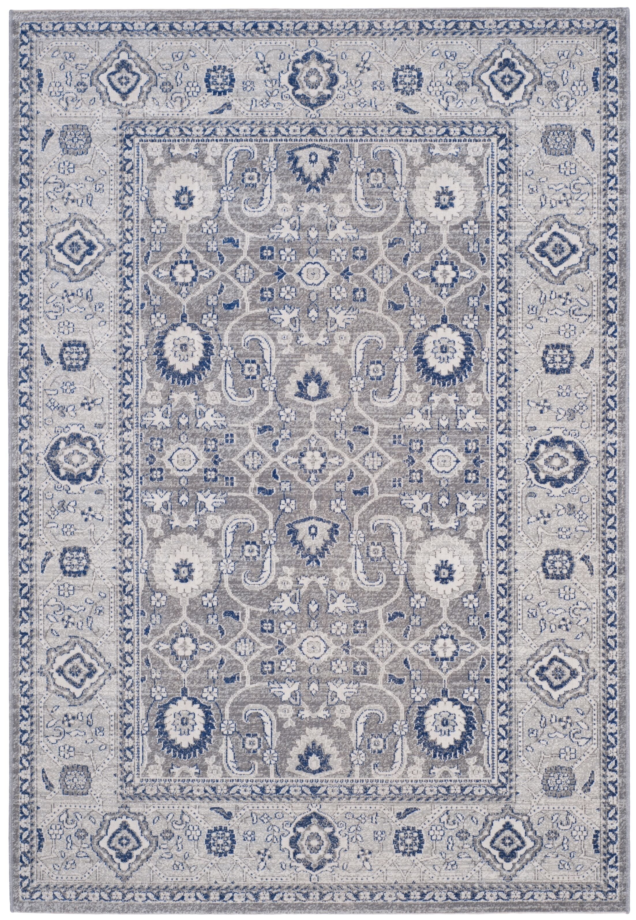 Bunn Grey/Silver Area Rug Rug Size: Rectangle 4' x 6'