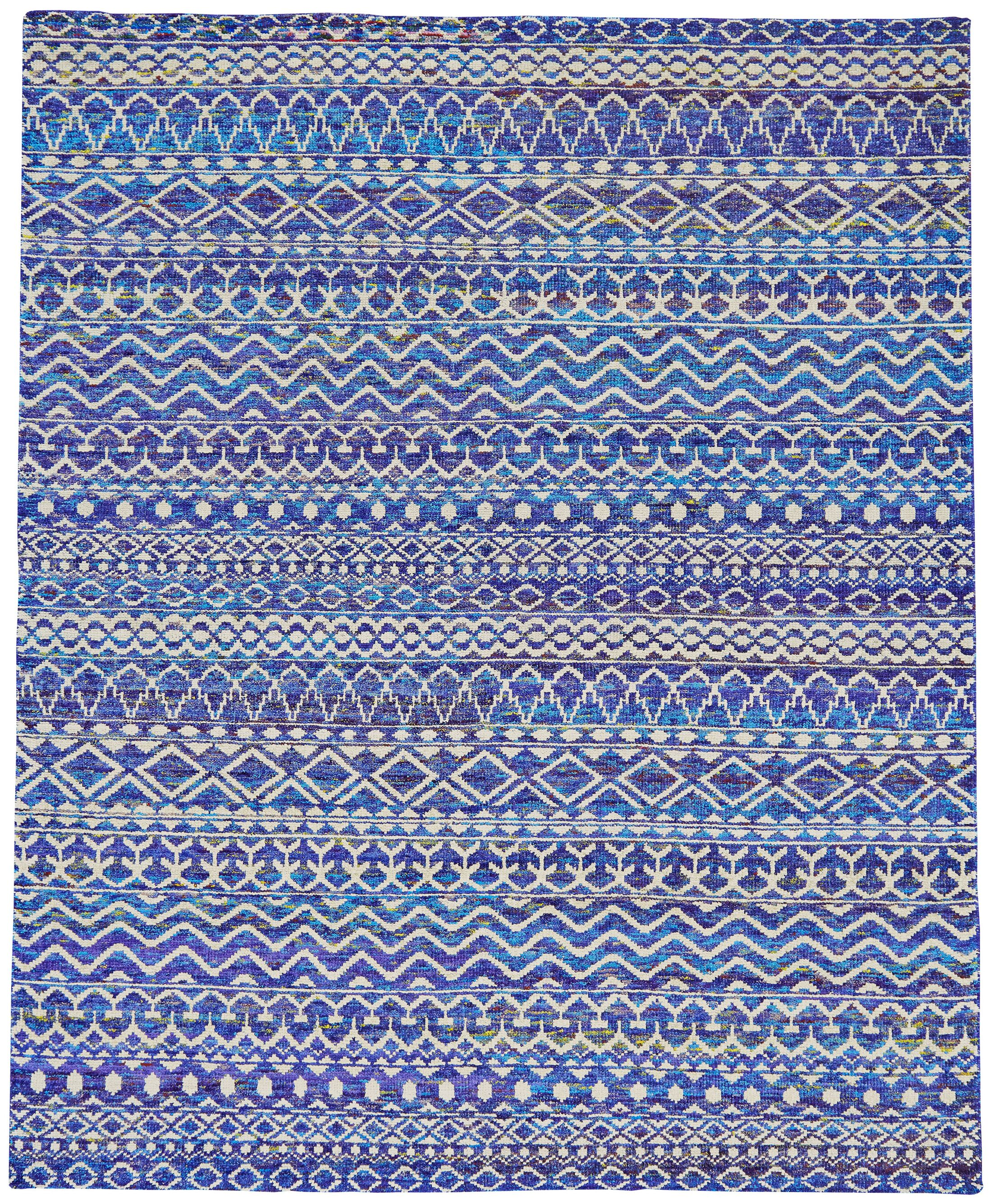 Lilburn Hand-Knotted Hydrangea Area Rug Rug Size: Rectangle 7'9