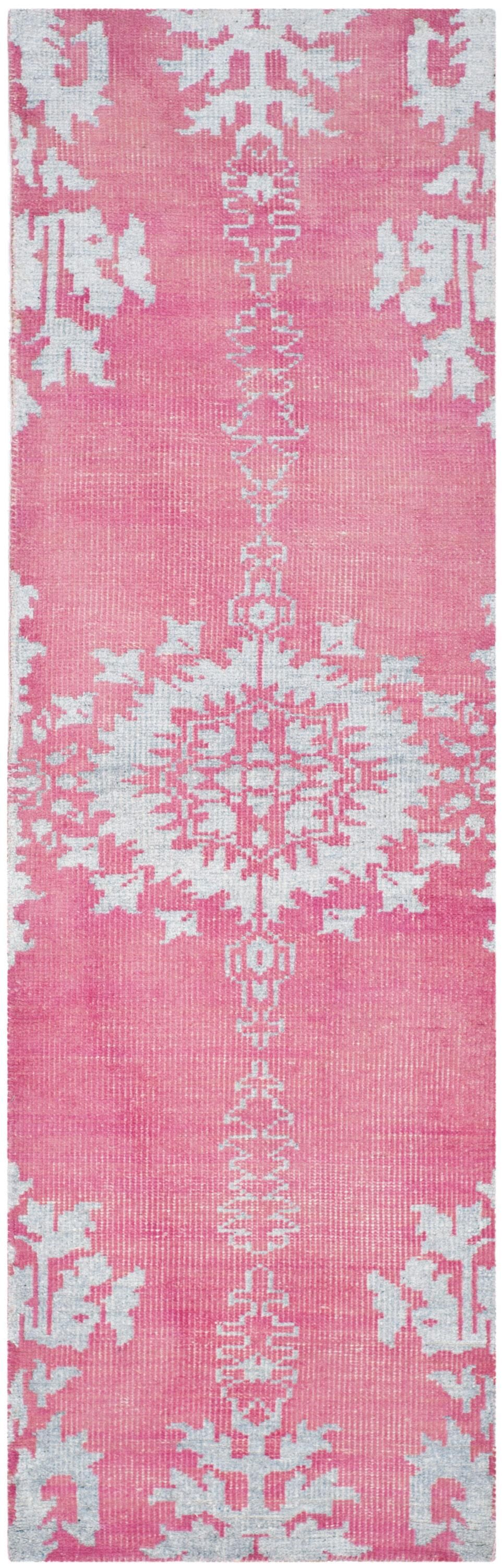 Moulouya Hand-Knotted Pink Area Rug Rug Size: Runner 2'6
