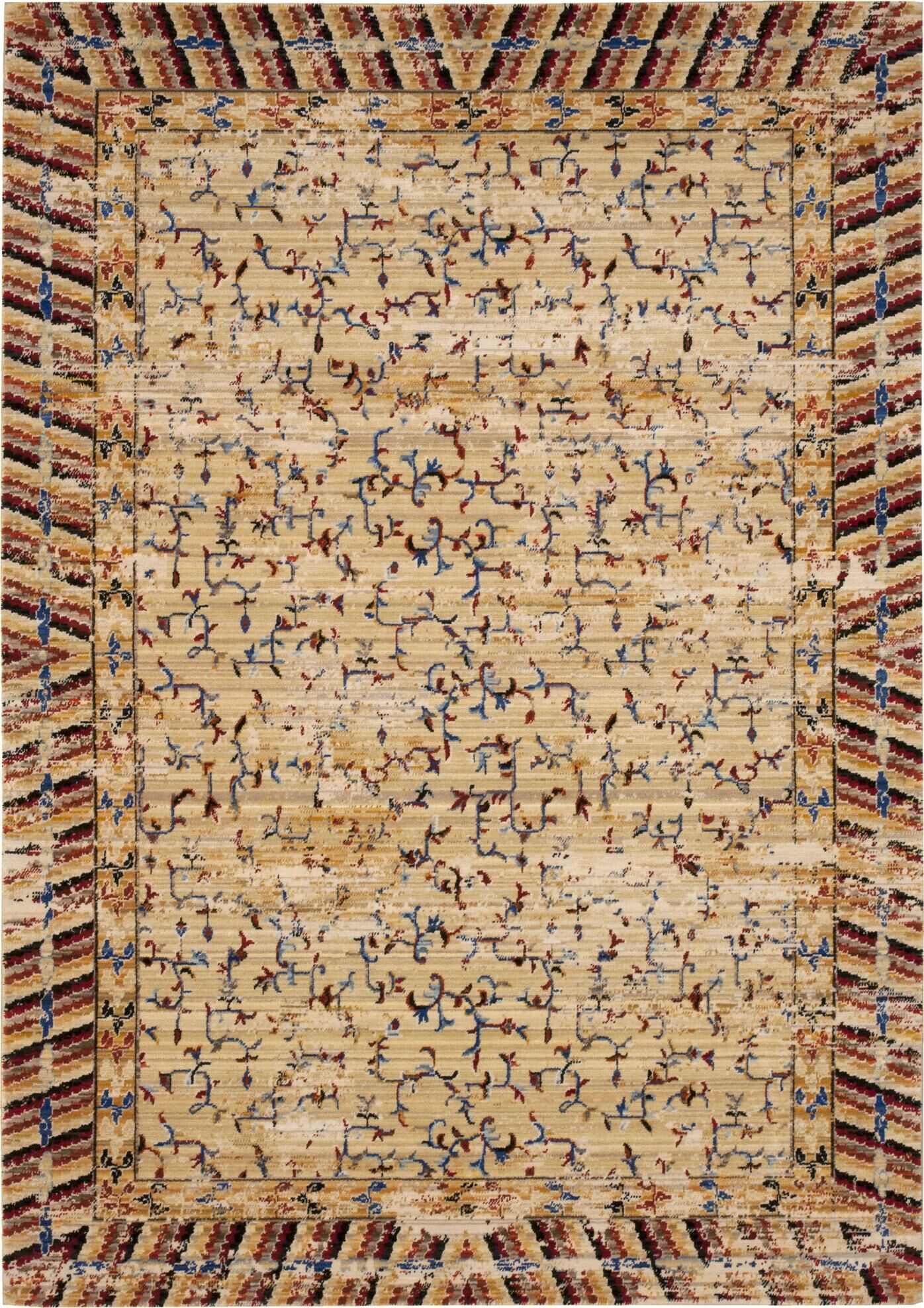 Santiago Ochre Area Rug Rug Size: Rectangle 8'6