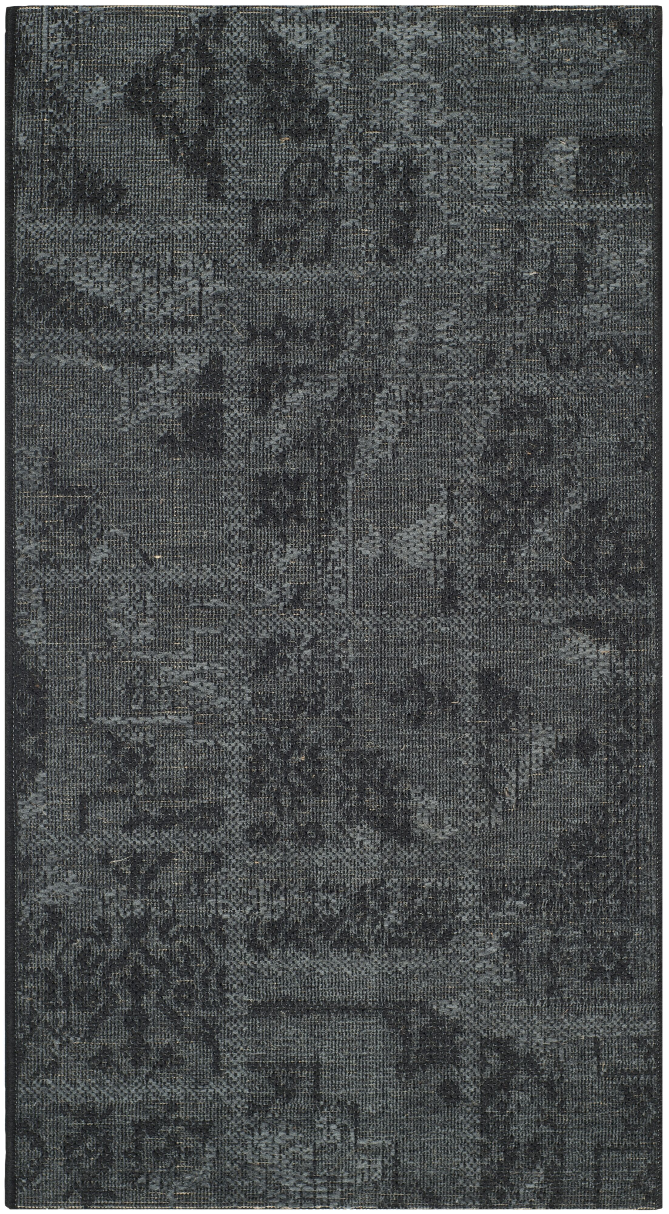 Chipping Ongar Black / Grey Area Rug Rug Size: Rectangle 4' x 6'