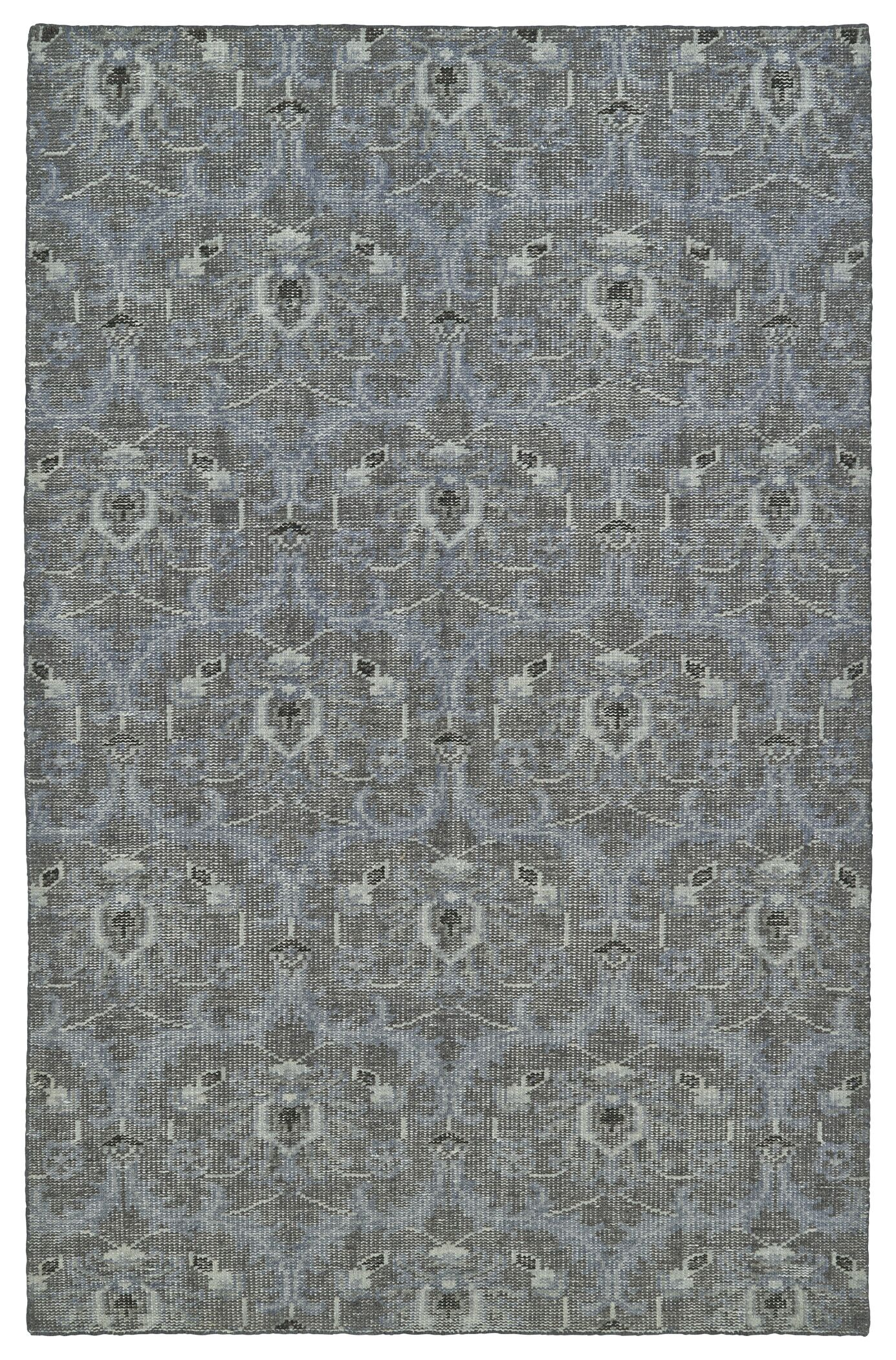 Masmoudi Hand-Knotted Graphite Area Rug Rug Size: Rectangle 8' x 10'