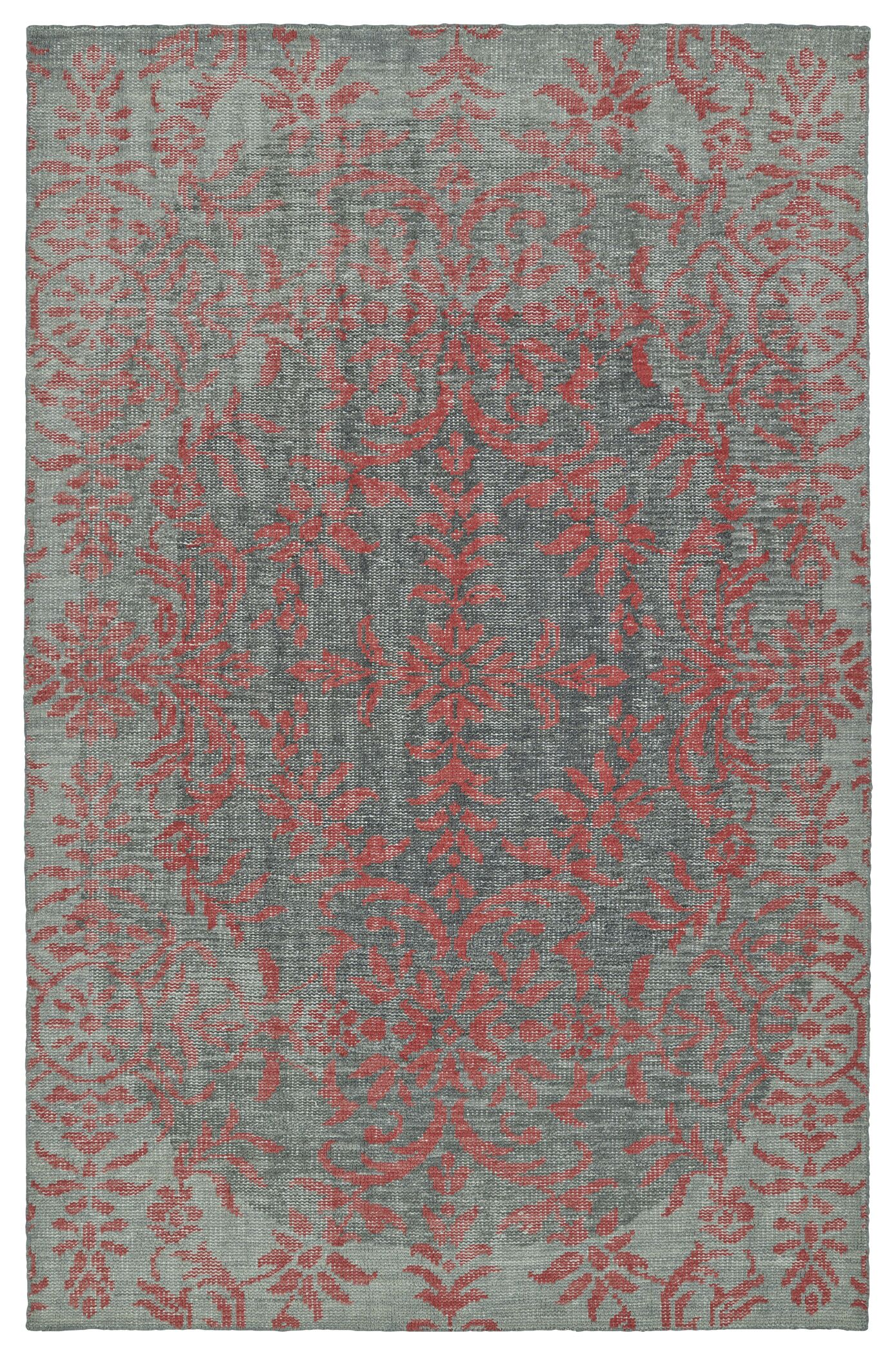 Masmoudi Hand-Knotted Pink Area Rug Rug Size: Rectangle 2' x 3'