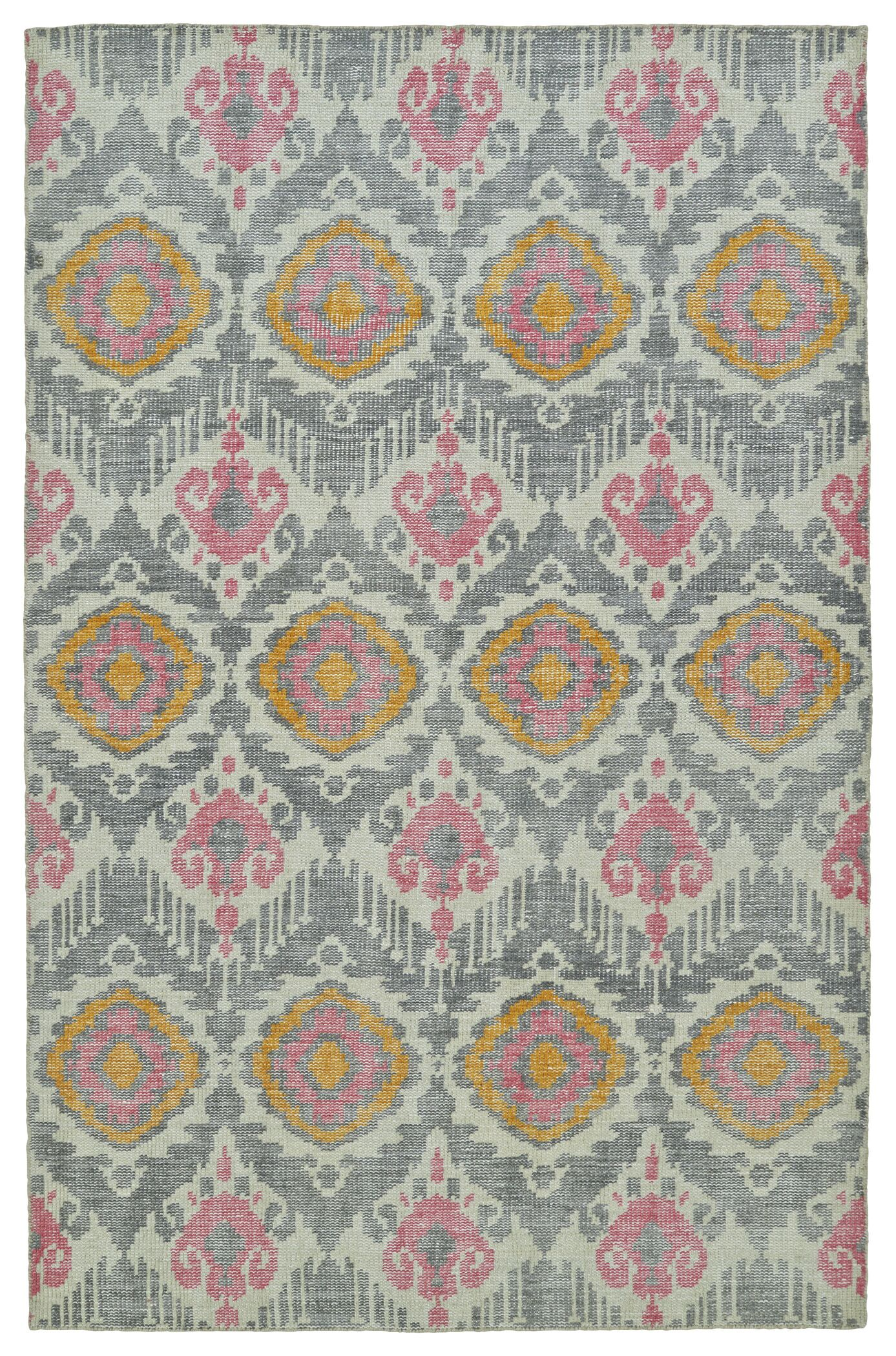 Lithonia Hand-Knotted Grey Area Rug Rug Size: Rectangle 9' x 12'