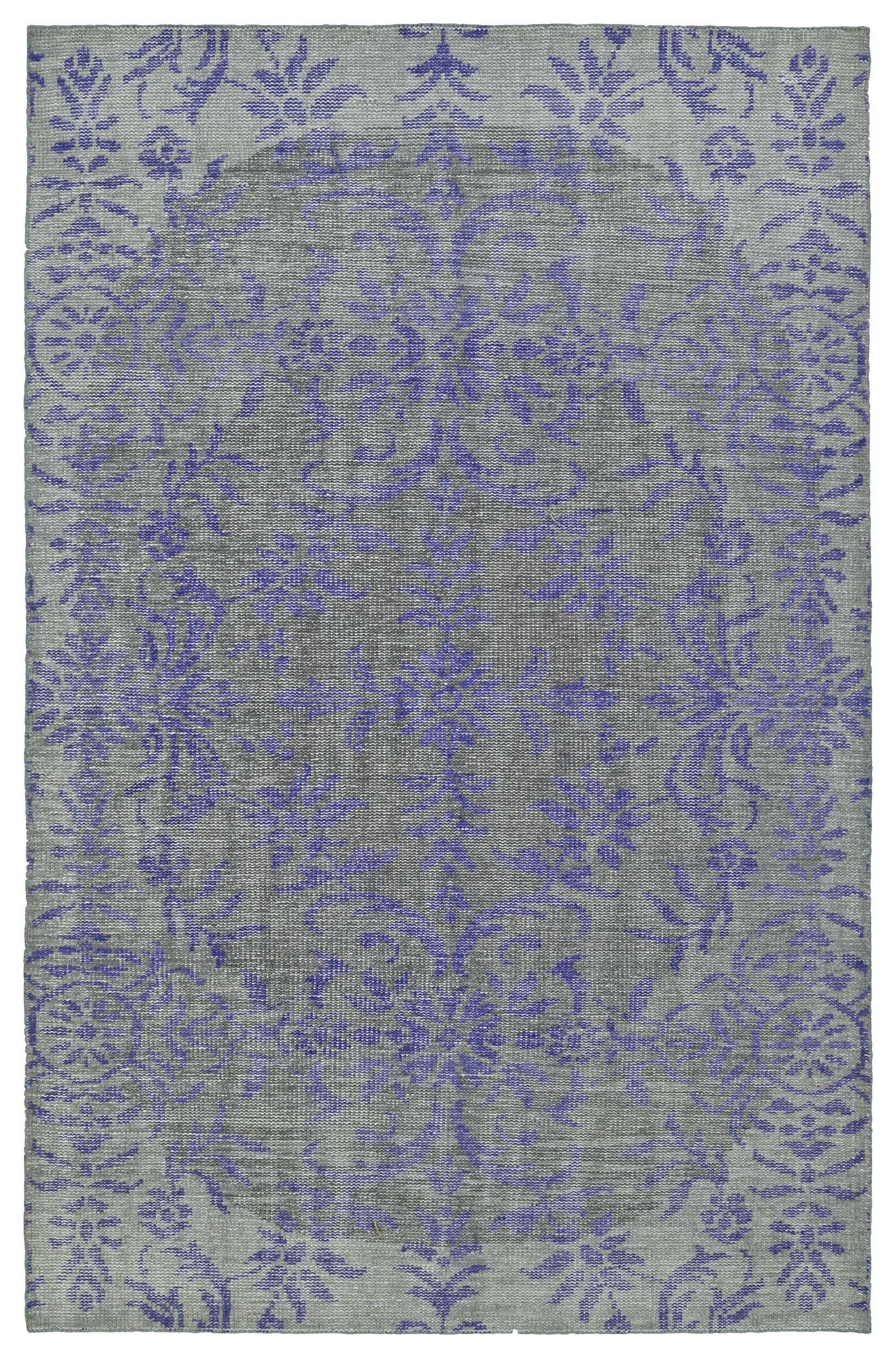 Masmoudi Hand-Knotted Purple/Gray Area Rug Rug Size: Rectangle 9' x 12'
