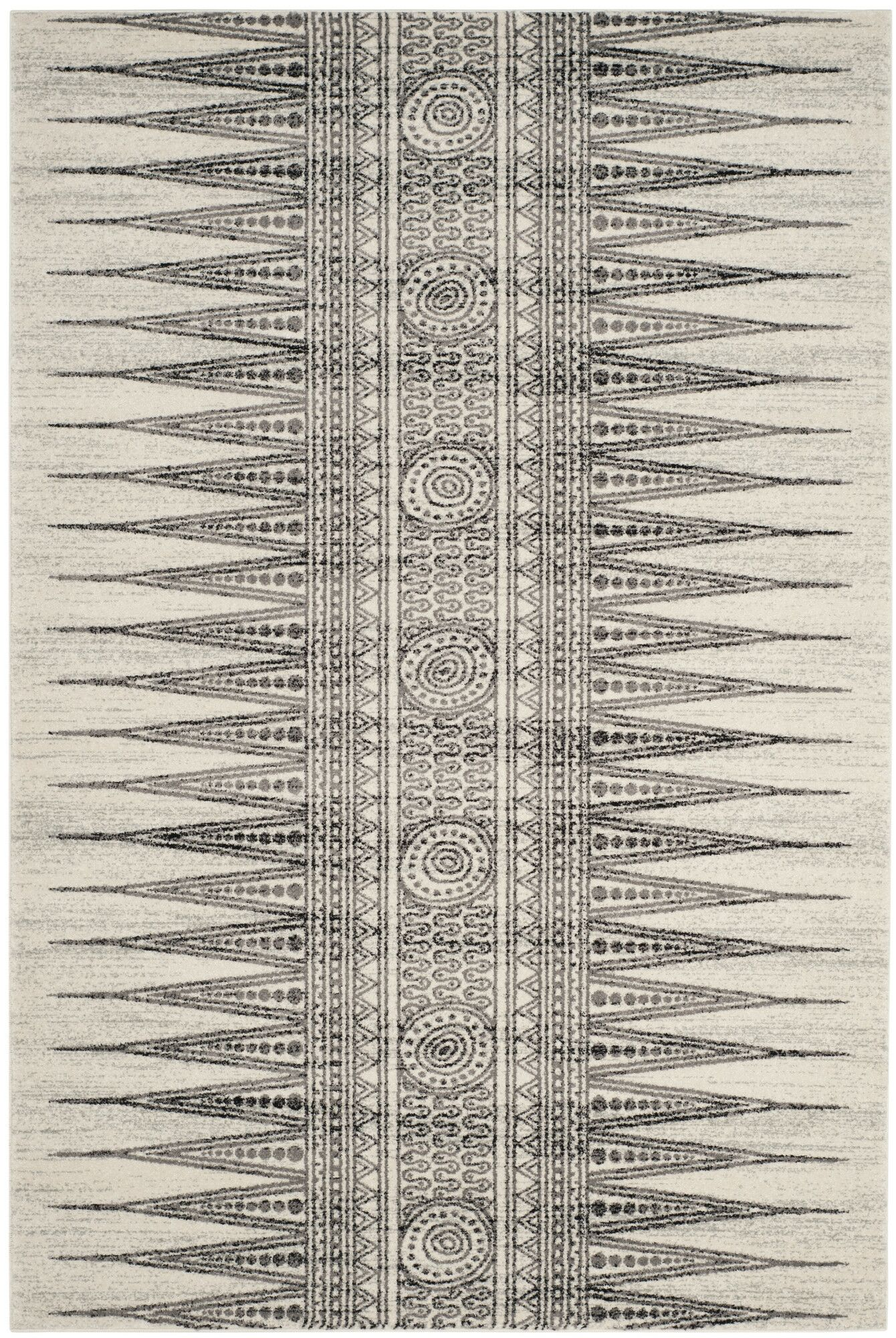 Elson Ivory/Gray Area Rug Rug Size: Rectangle 5'1