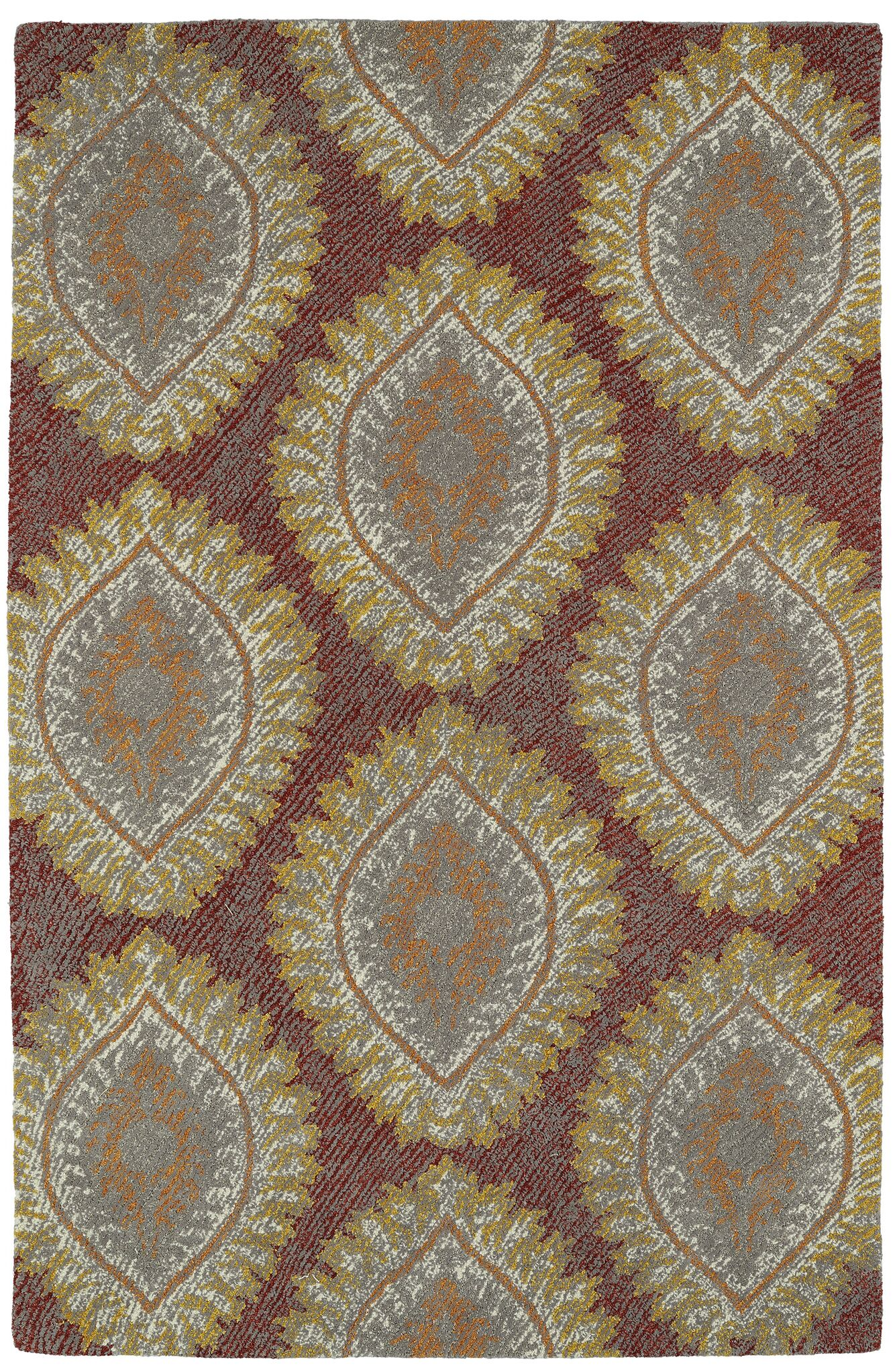 Locust Grove Hand-Tufted Red Area Rug Rug Size: Rectangle 8' x 10'