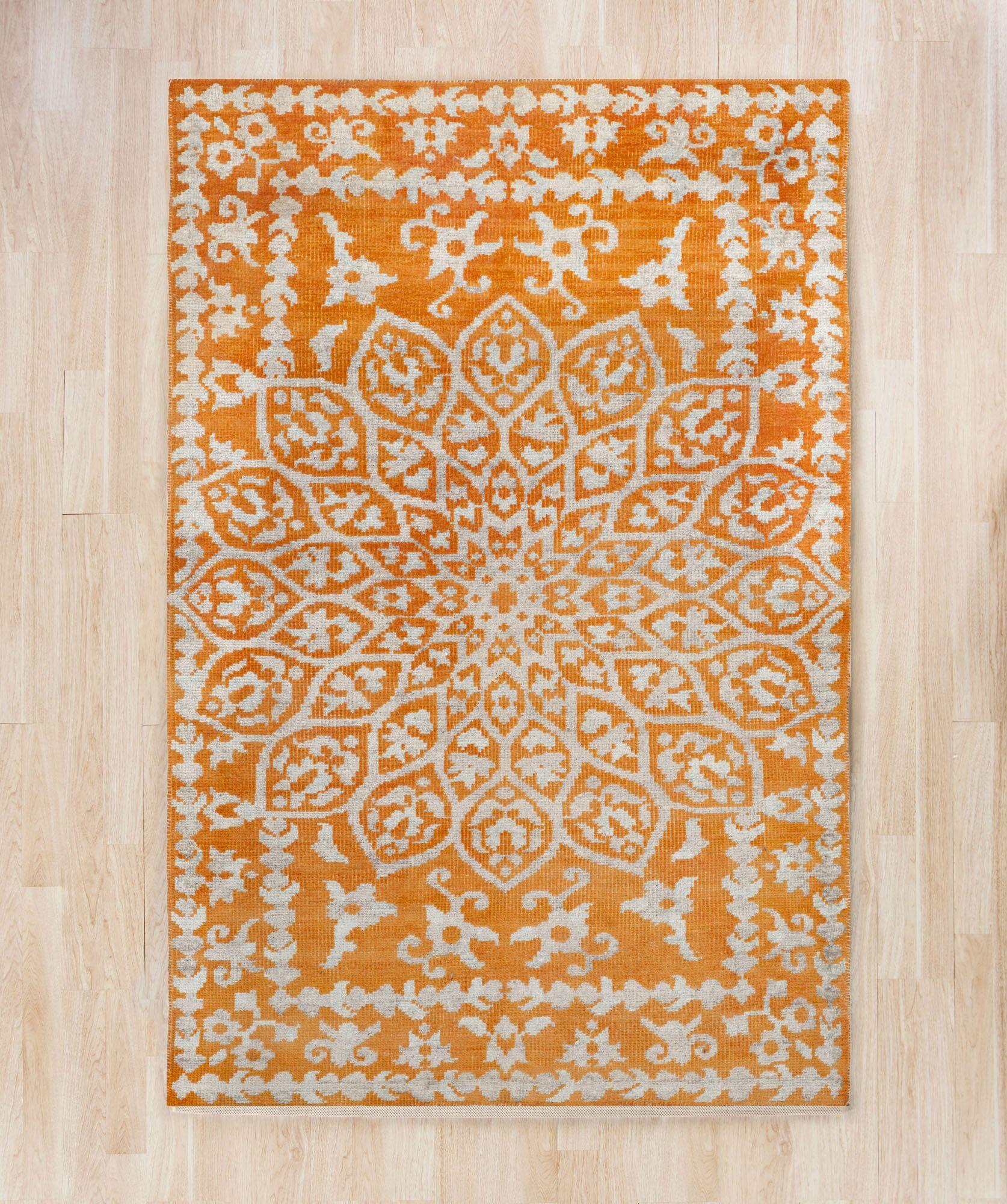 Marmont Orange Area Rug Rug Size: Rectangle 4' x 6'