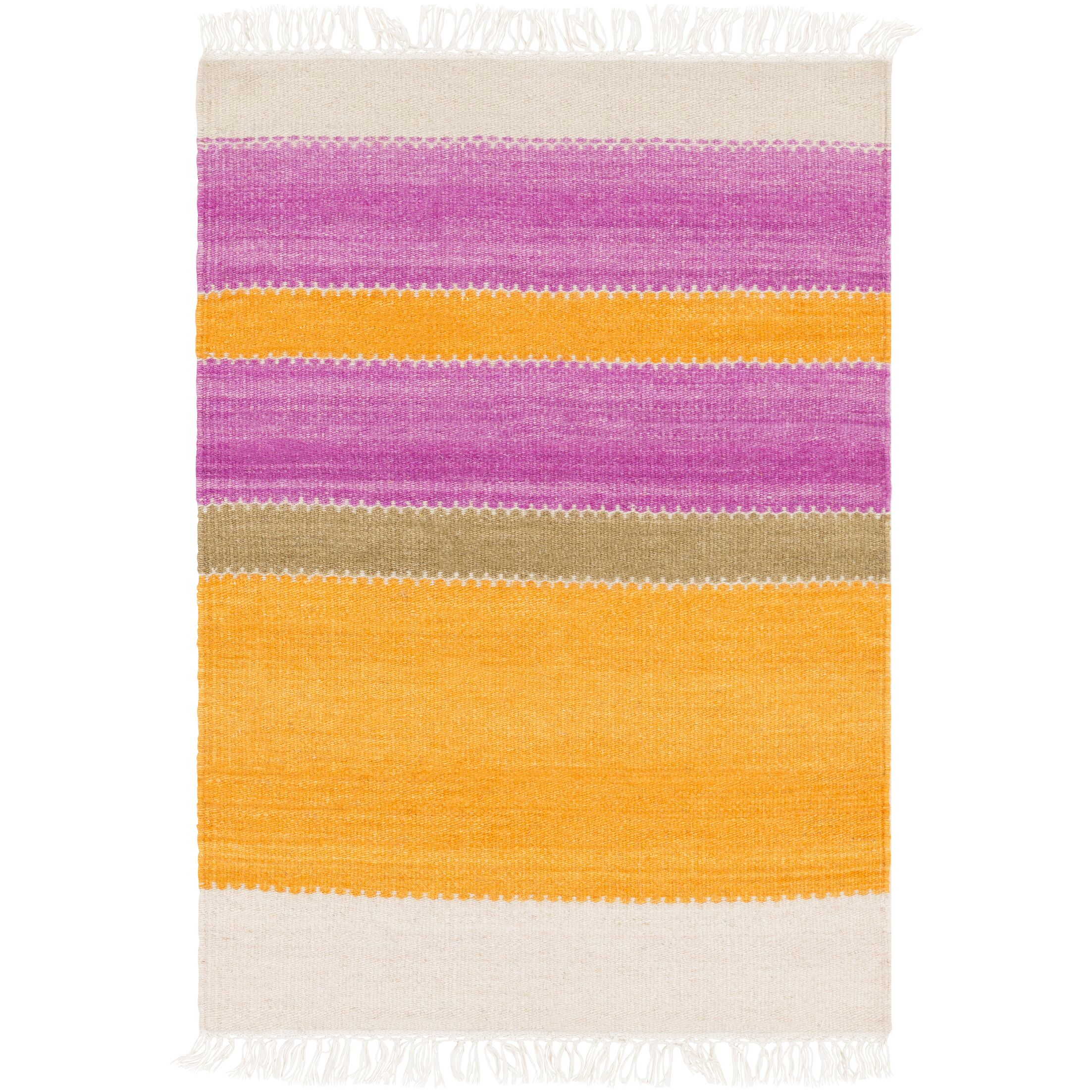 Buckhead Hand-Tufted Tangerine/Magenta Area Rug Rug Size: Rectangle 8' x 10'