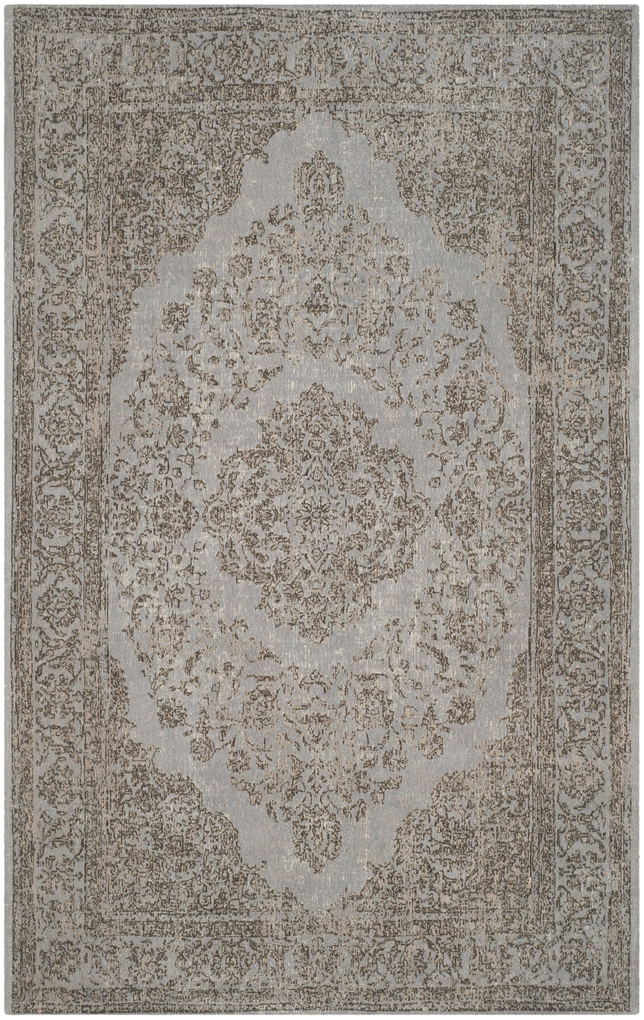 Mattapoisett Cotton Gray Area Rug Rug Size: Rectangle 4' x 6'