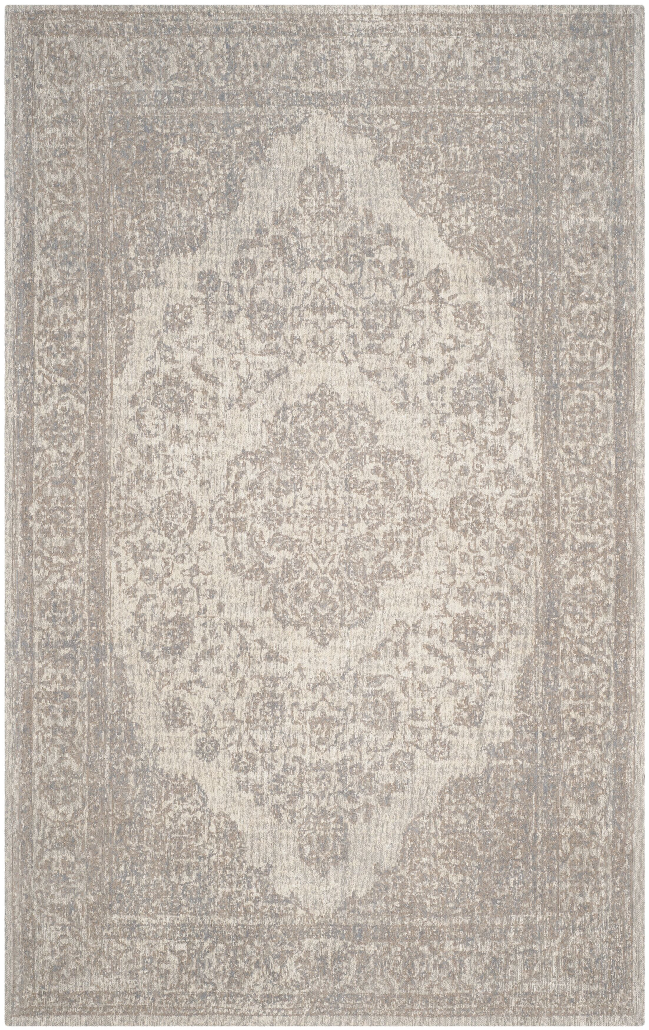 Middleborough Cotton Beige/Gray Area Rug Rug Size: Rectangle 5' x 8'