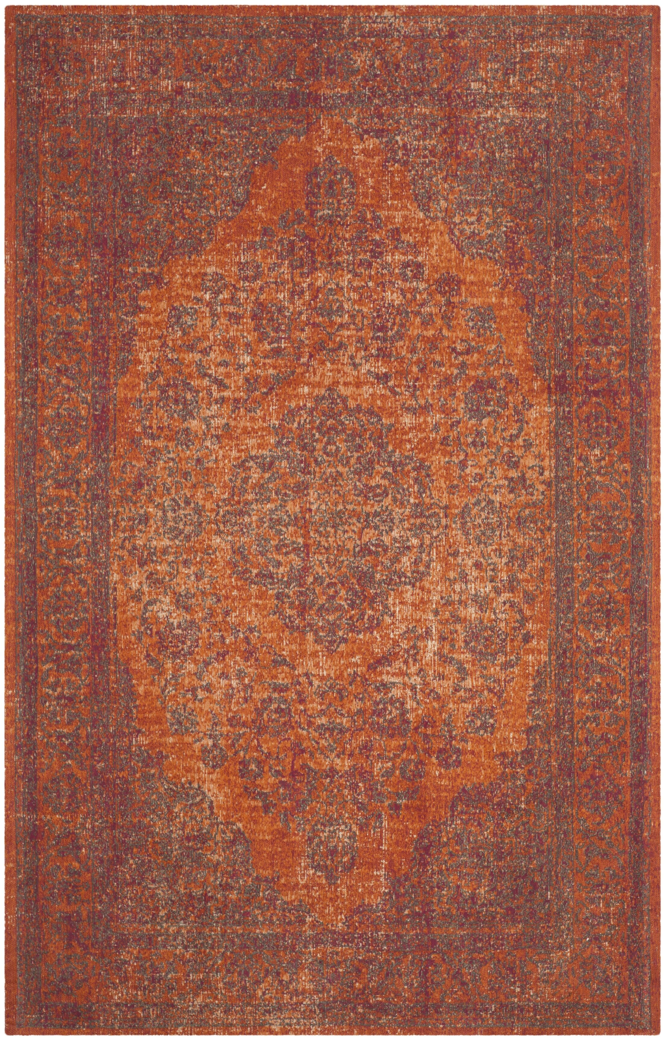 Thompson La Foa Red Area Rug Rug Size: Rectangle 8' x 11'