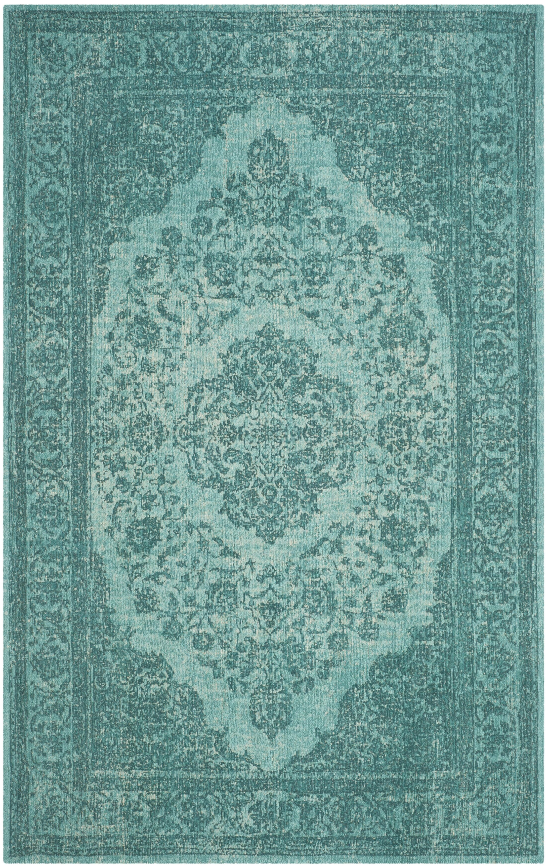 Middleborough Classic Vintage Aqua Area Rug Rug Size: Runner 2'4