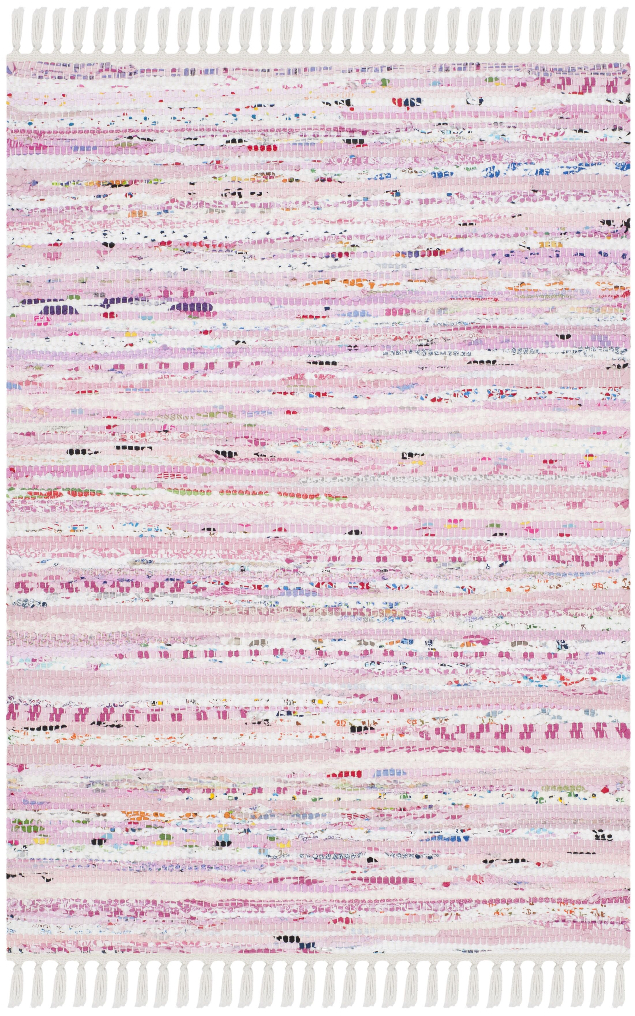 Lansing Hand-Woven Light Pink Area Rug Rug Size: Rectangle 8' x 10'