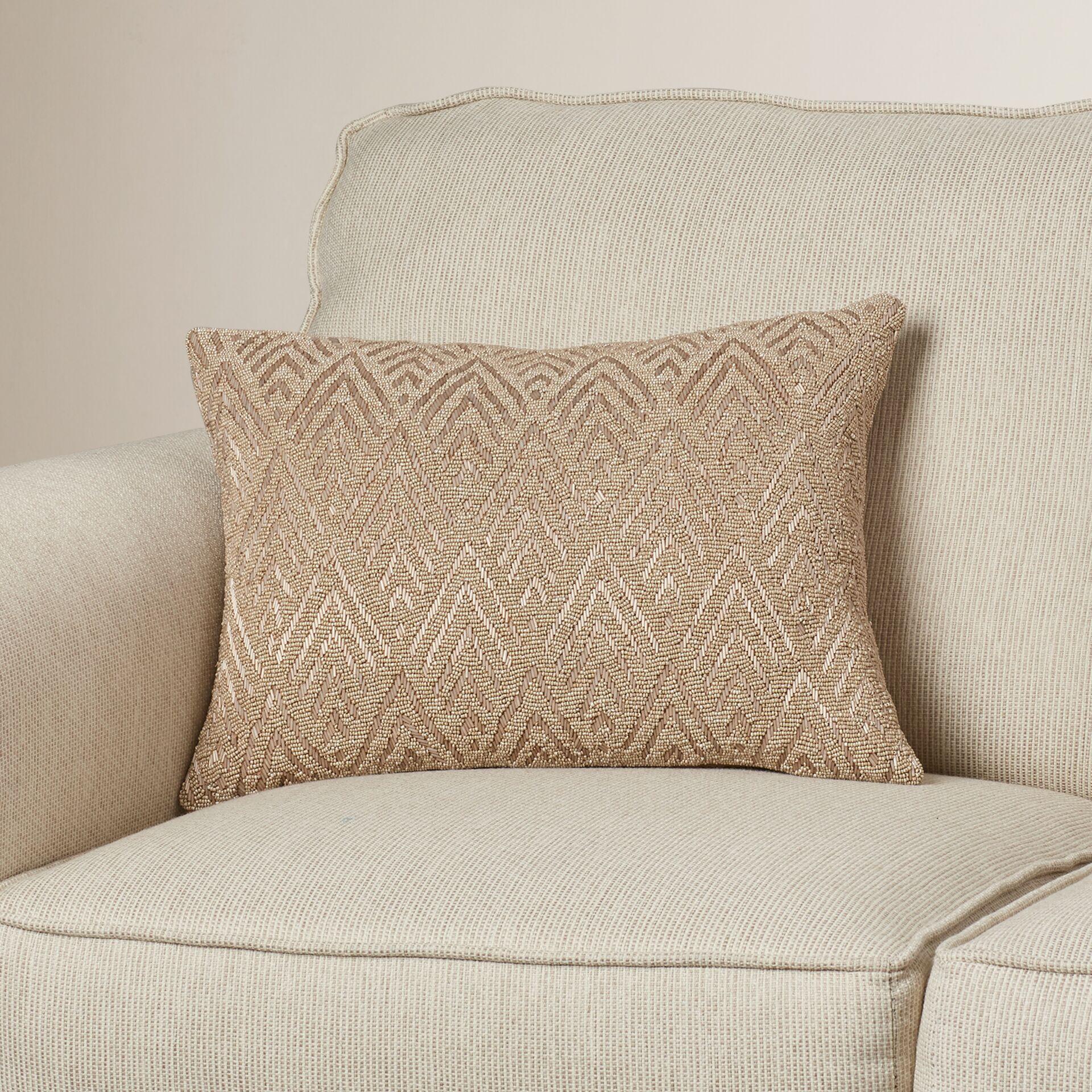 Bloomingdale Lumbar Pillow Color: Beige