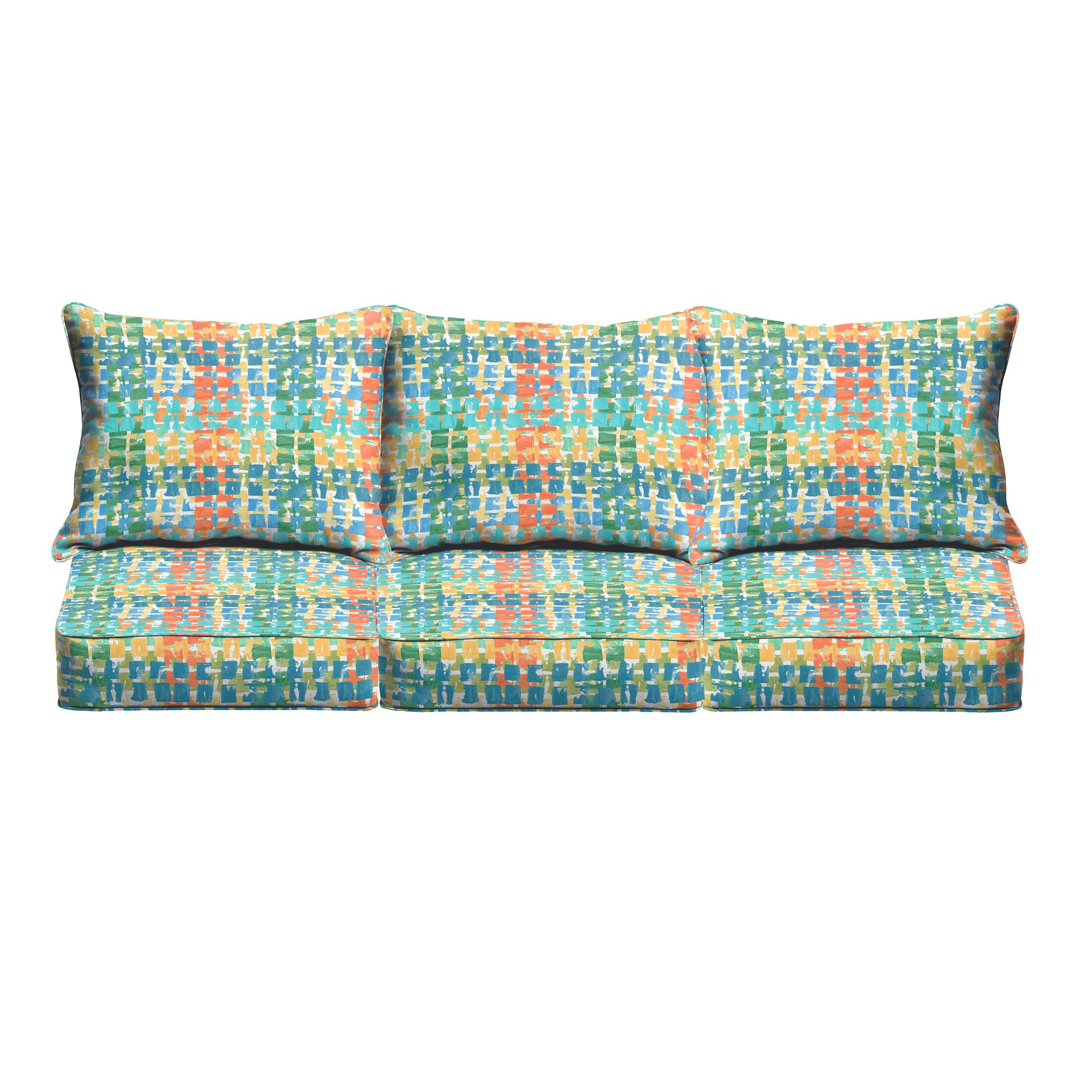 Momea 6 Piece Sofa Cushion Set Fabric: Green/ Red