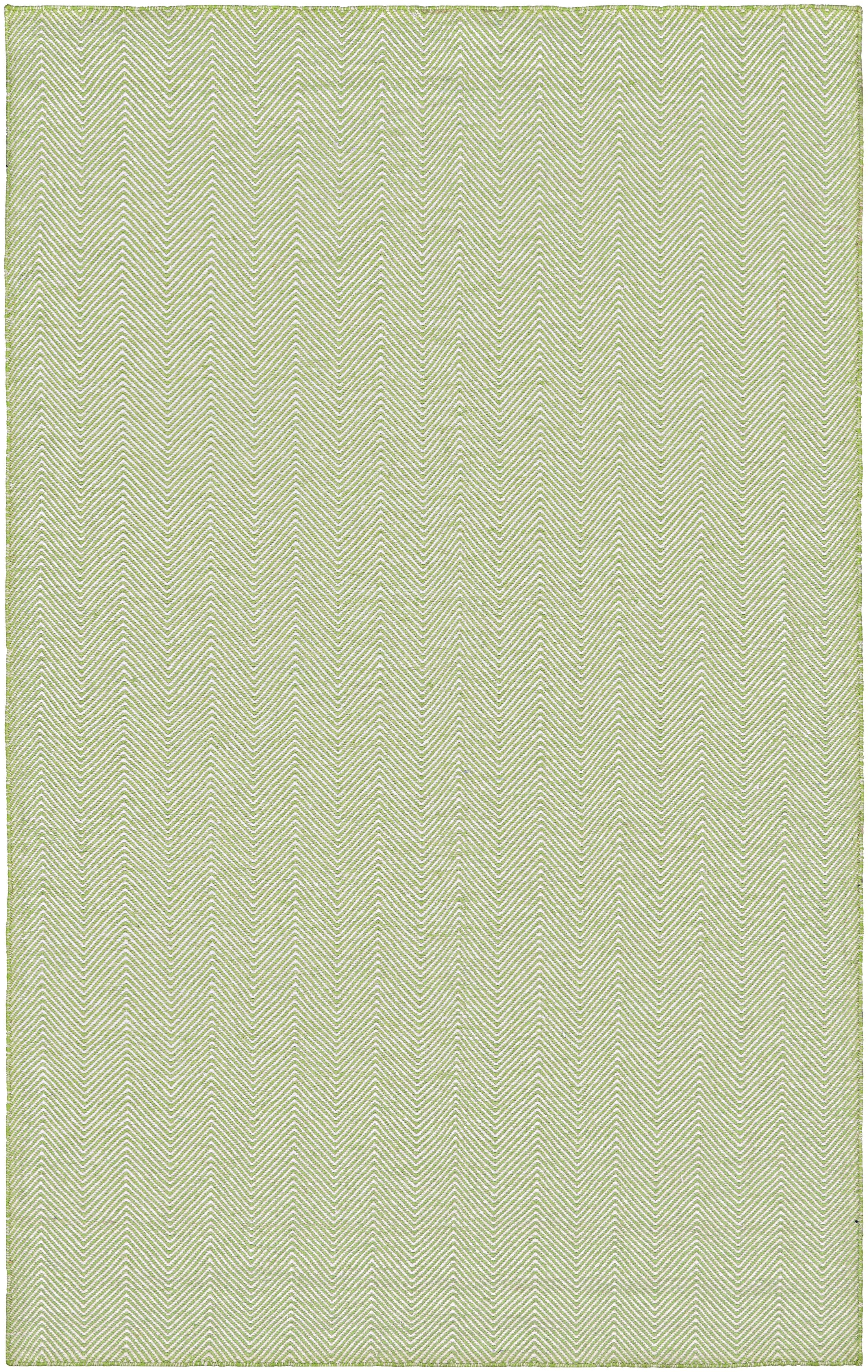 Alonso Hand-Woven Green Indoor/Outdoor Chevron Area Rug Rug Size: Rectangle 5' x 8'