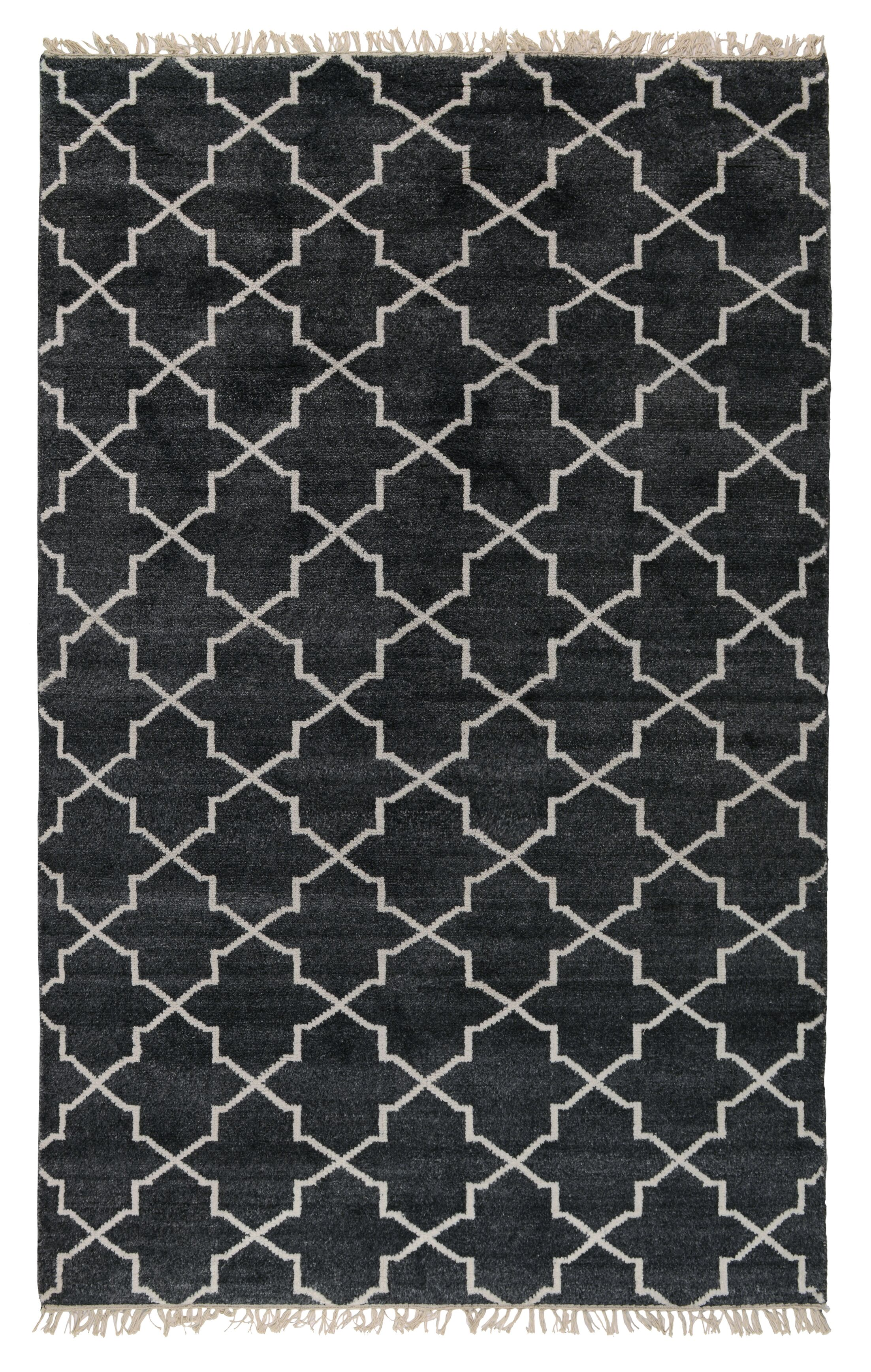 Lakeview Hand-Knotted Charcoal Area Rug Rug Size: 5' x 8'